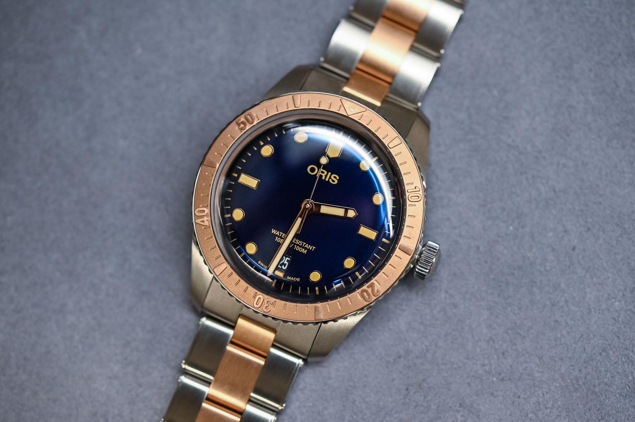 Oris Divers Sixty Five Bi-Colour Bico Steel and Bronze Bracelet - 1