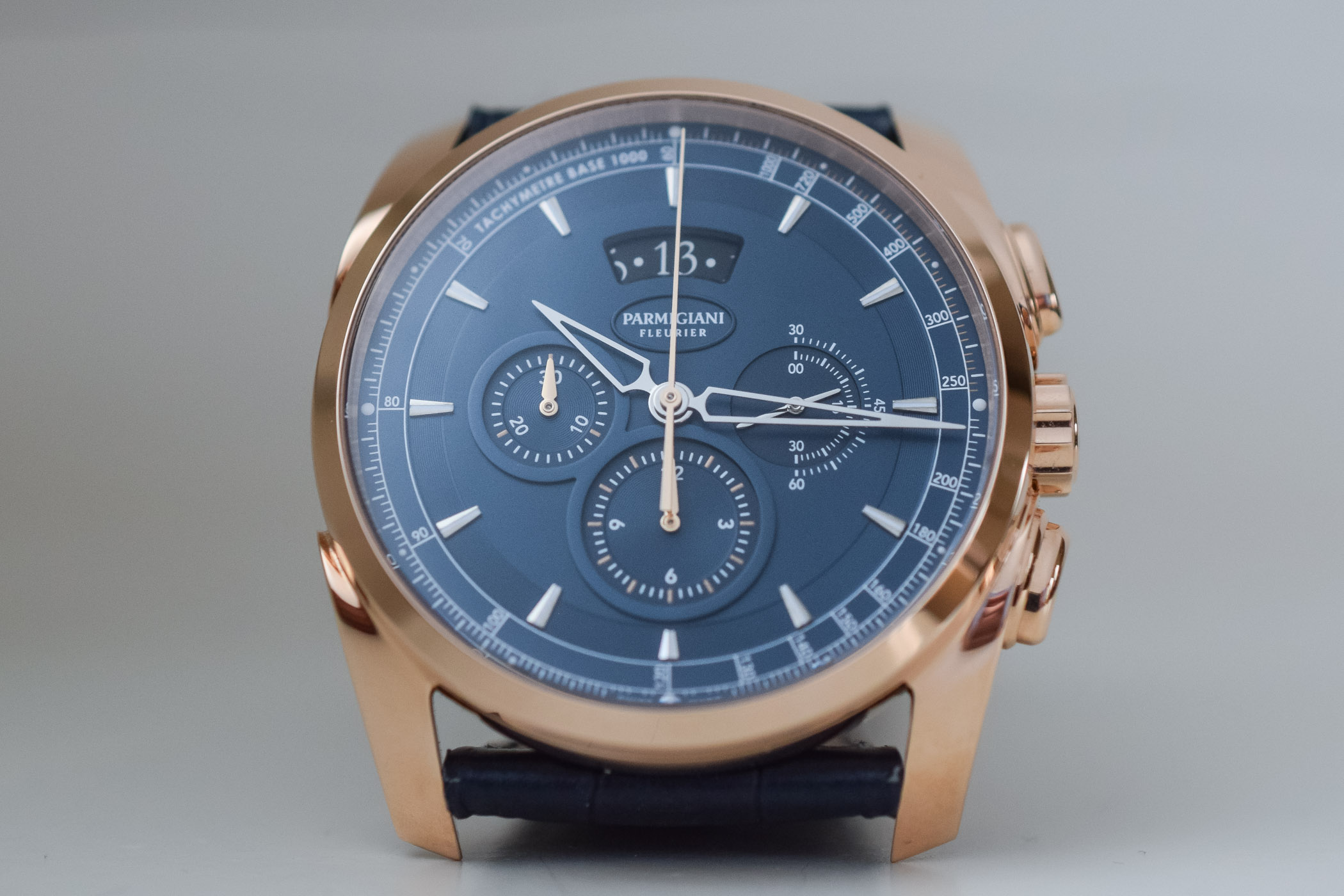 Parmigiani Fleurier Tonda Metrographe Rose Gold and Blue Dial - 1