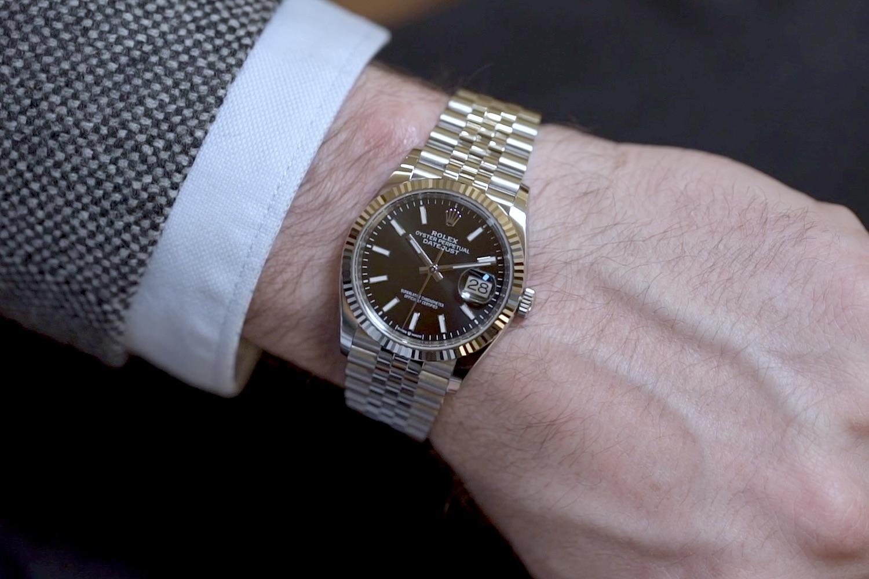 Hands,On , The 2019 Rolex Datejust 36 Steel Rolesor Ref