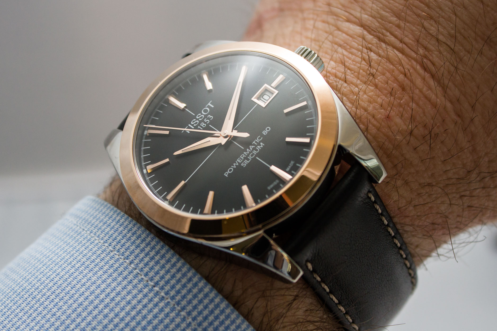 Tissot Gentleman Powermatic 80 Two-Tone Steel-and-Gold - 11