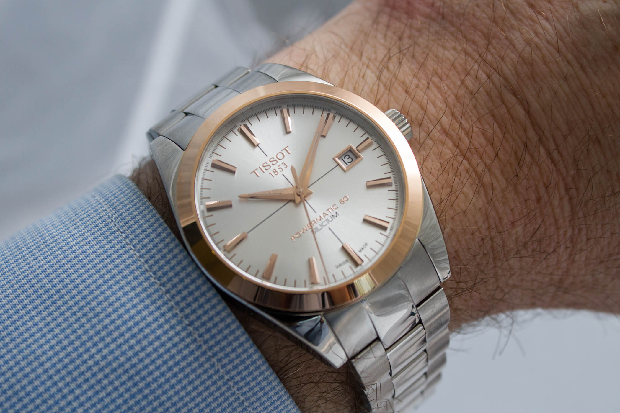Tissot Gentleman Powermatic 80 Two-Tone Steel-and-Gold - 8