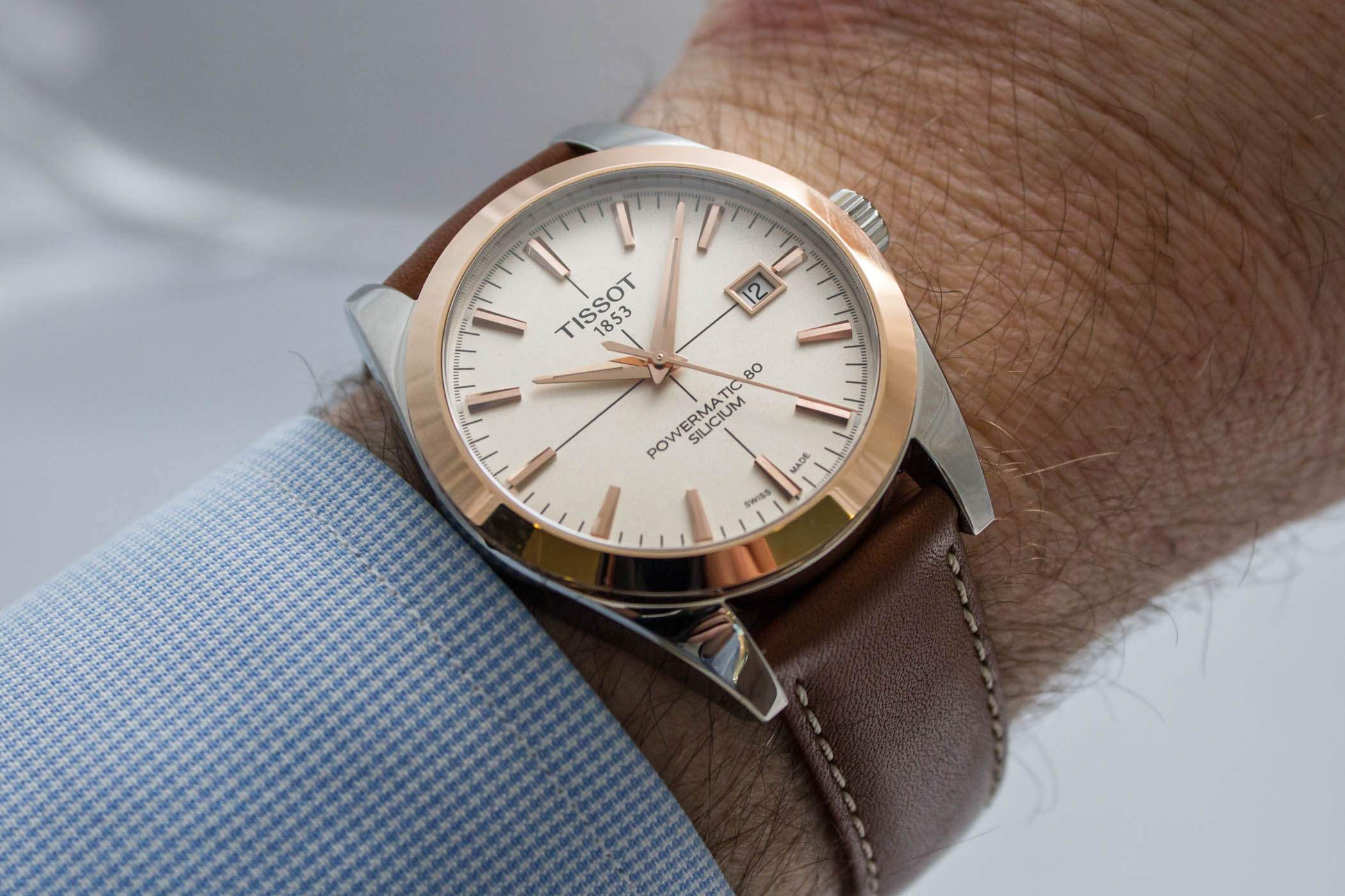 Tissot Gentleman Powermatic 80 Two-Tone Steel-and-Gold - 9