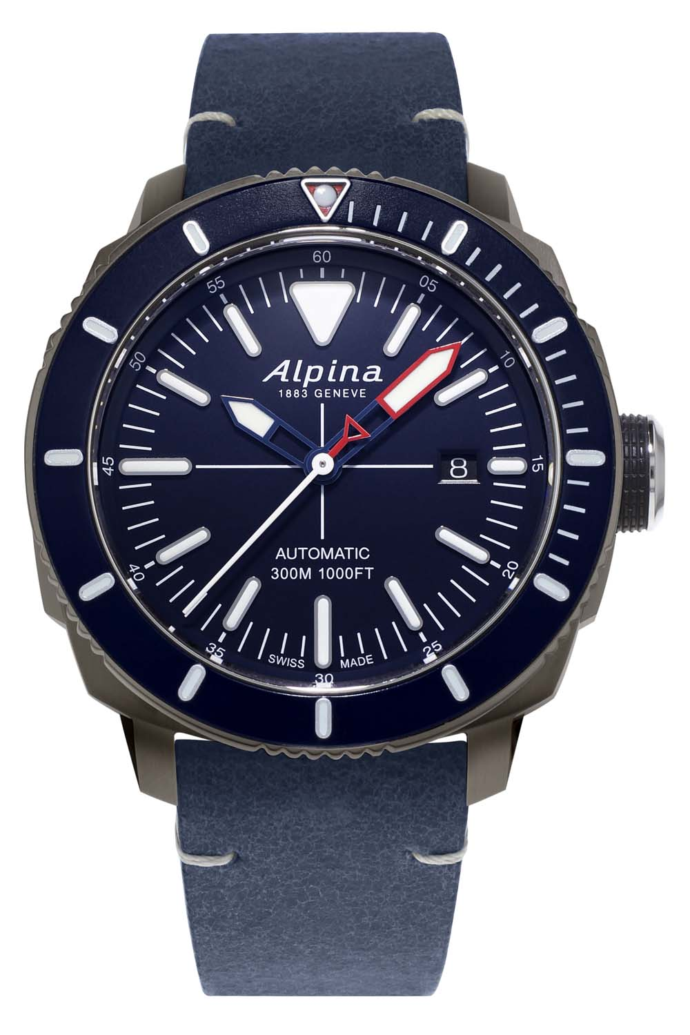 Alpina Watches Seastrong Diver 300 Automatic PVD Titanium AL-525LNN4TV6