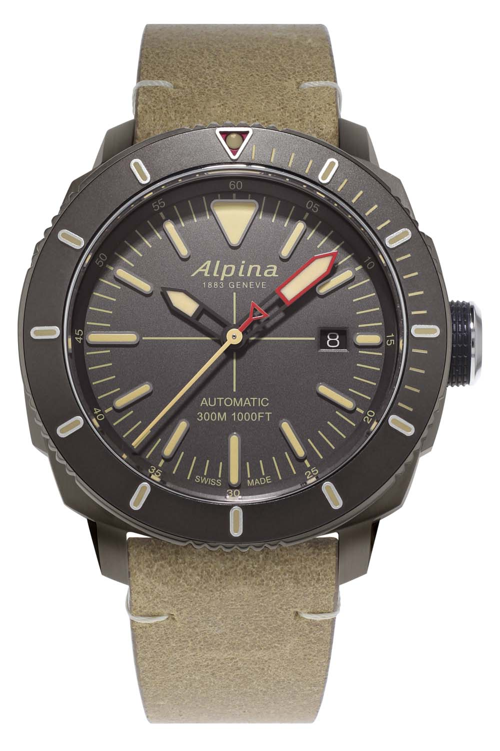 Alpina Watches Seastrong Diver 300 Automatic PVD Titanium AL-525LGG4TV6