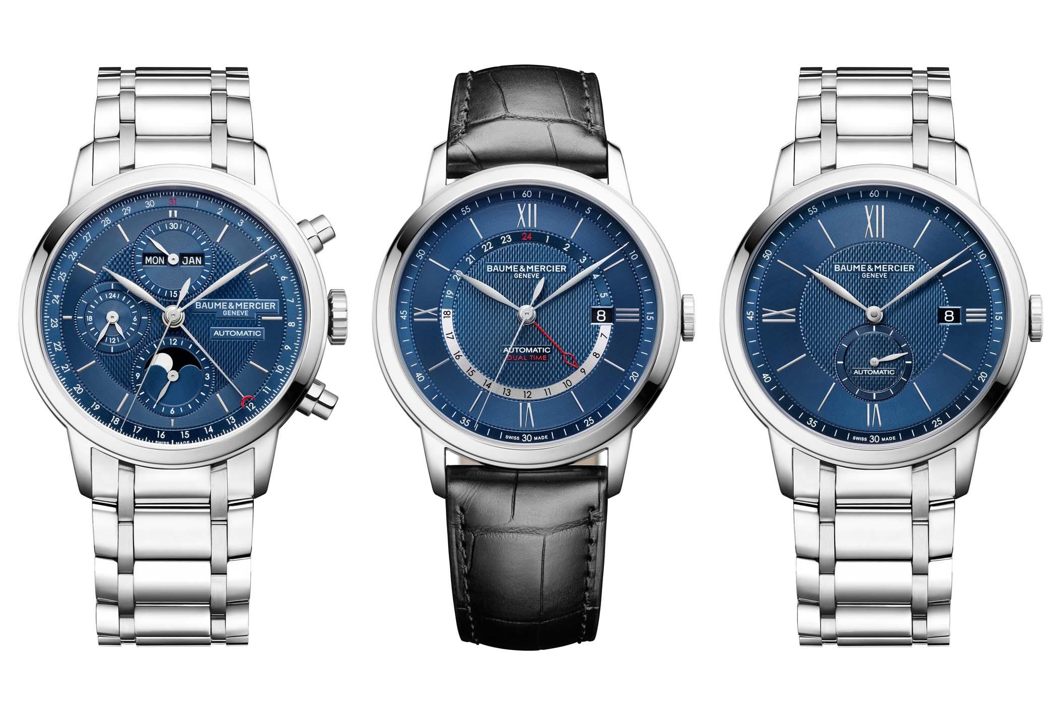 Baume & Mercier Classima new models 2019 blue dials