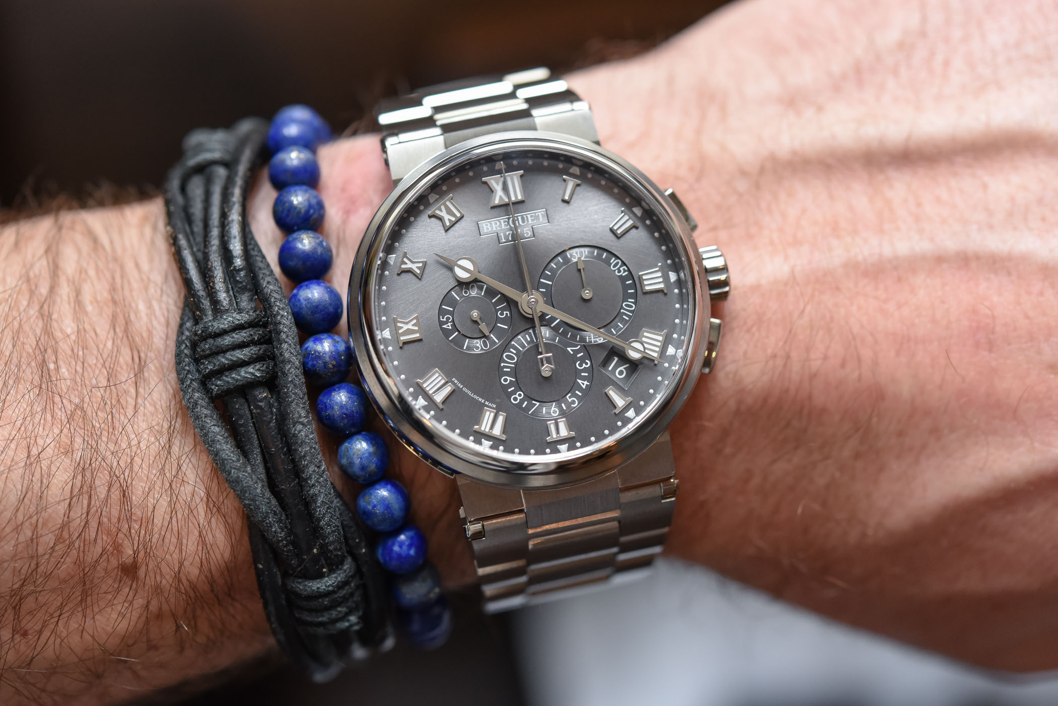 Breguet Marine Collection references 5517, 5527 and 5547 Titanium Bracelet