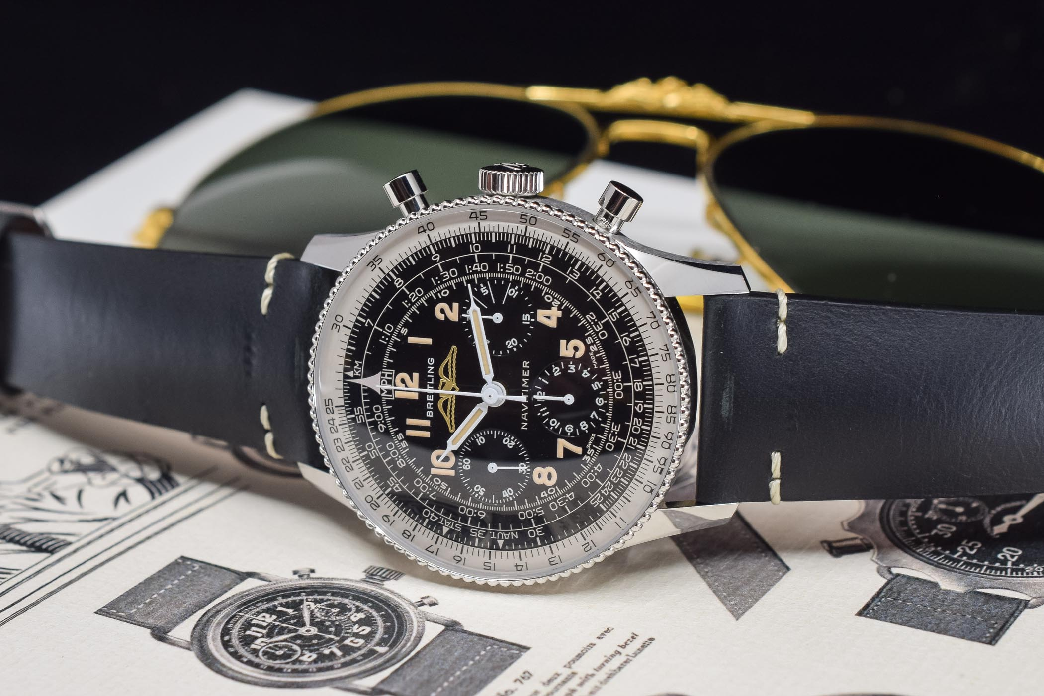 Review Breitling Navitimer Ref 806 1959 Re Edition Specs Price
