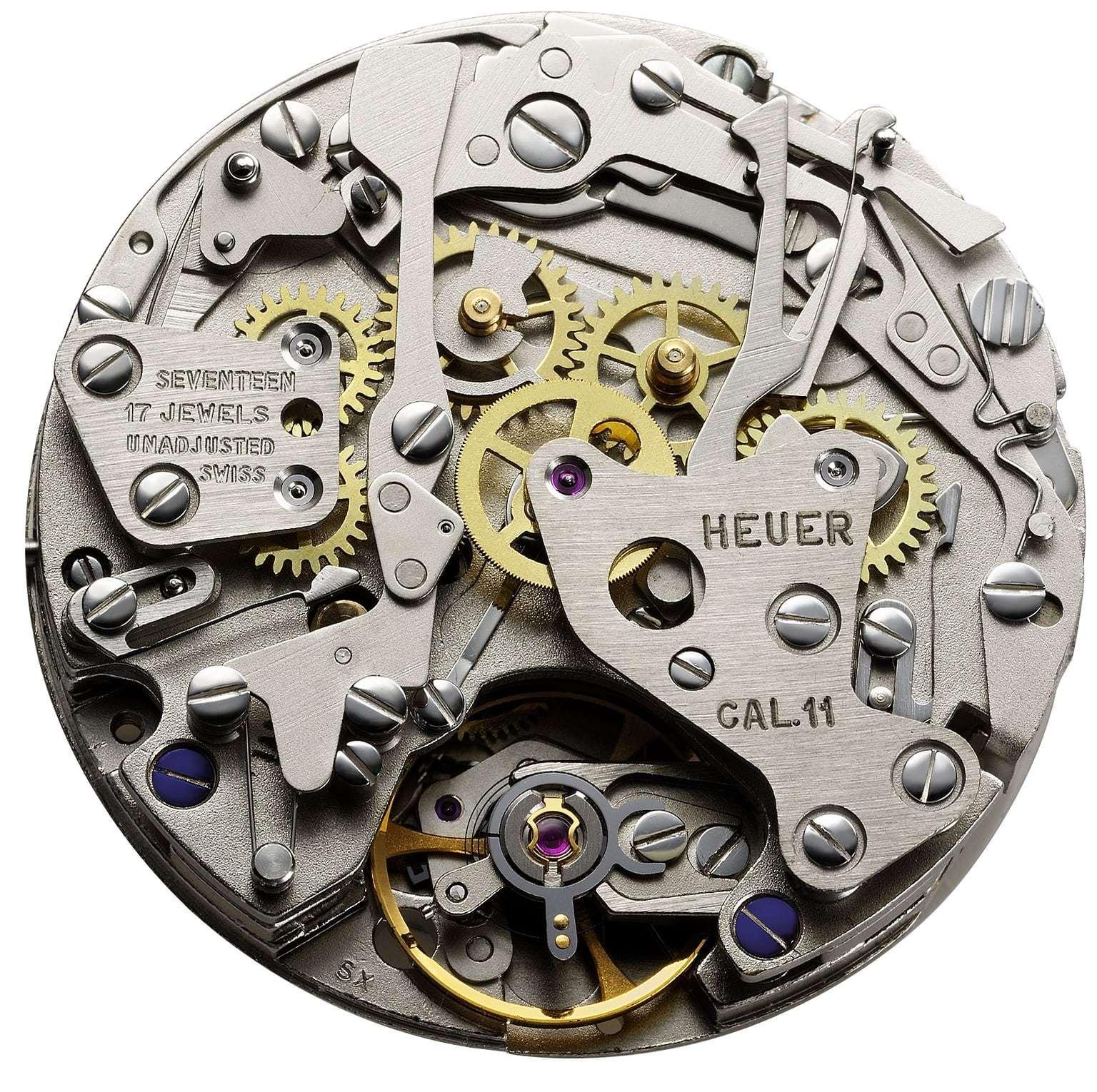 Heuer Calibre 11 chronomatic automatic chronograph 1969