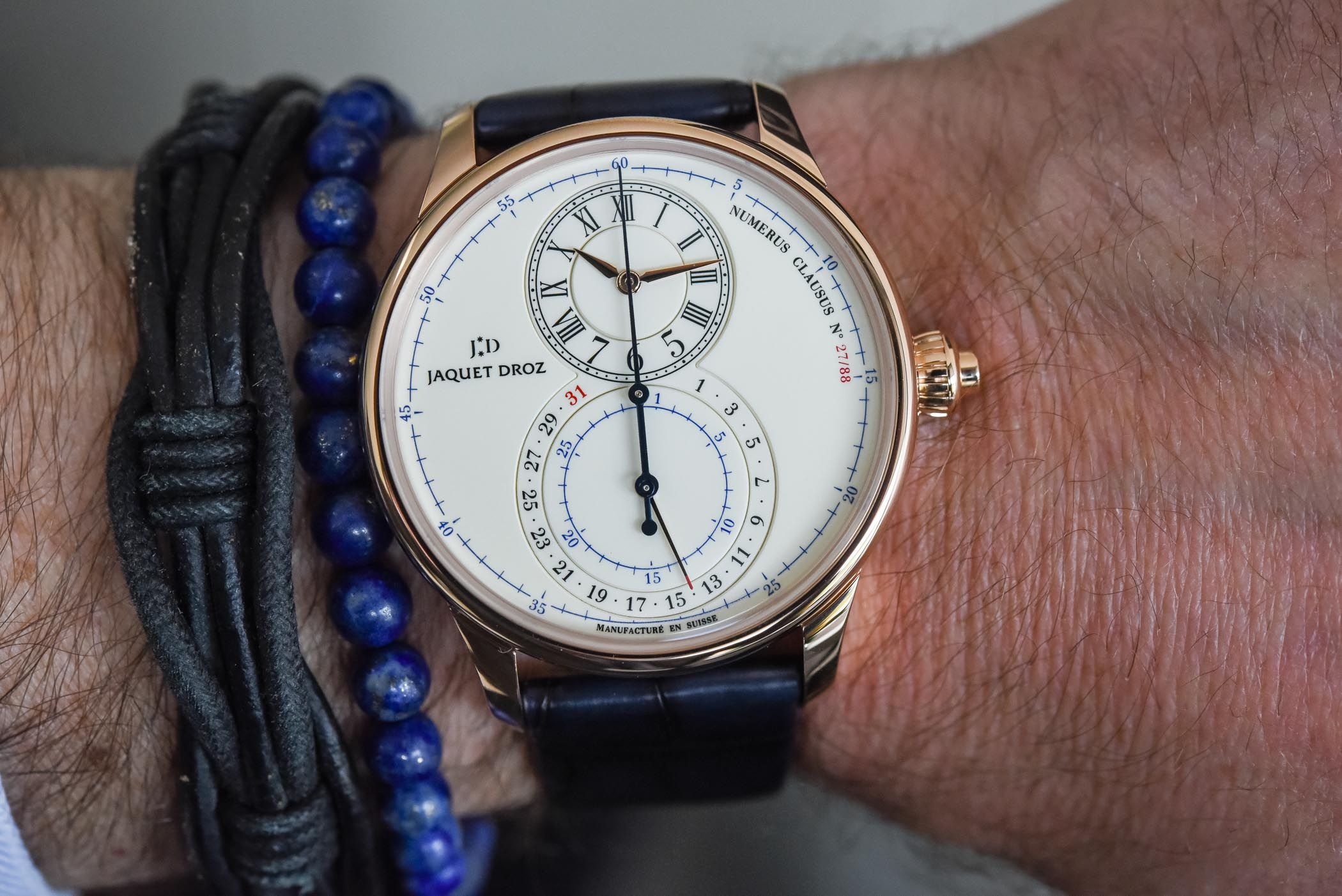 Jaquet Droz Grande Seconde Chronograph Ivory Enamel Limited Edition Gold