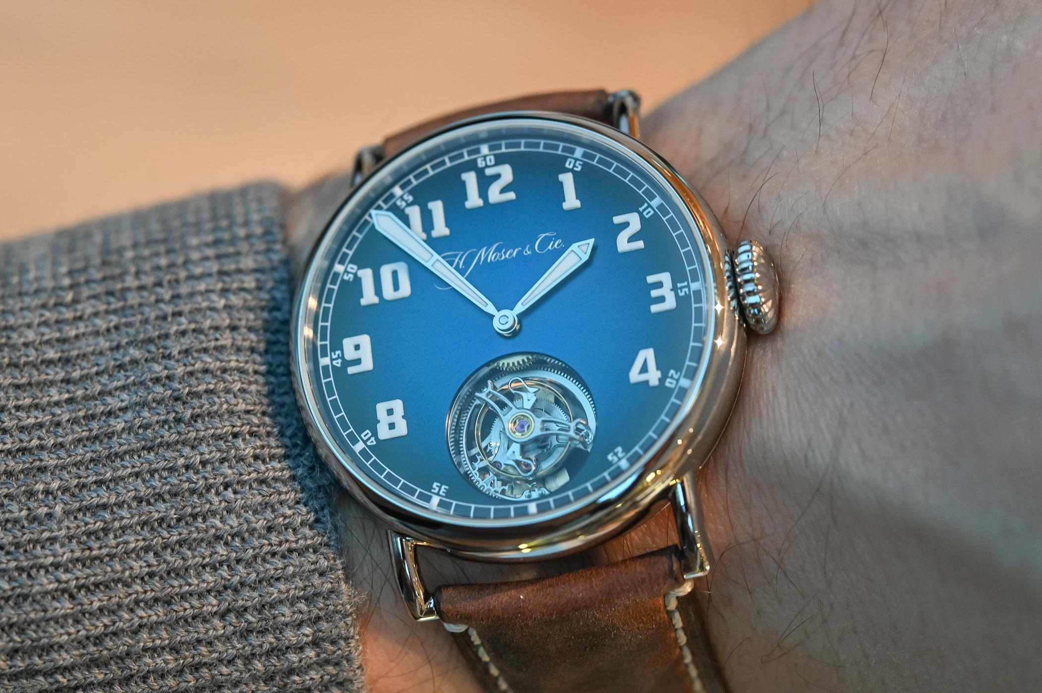 Moser Cie Heritage Tourbillon Funky Blue