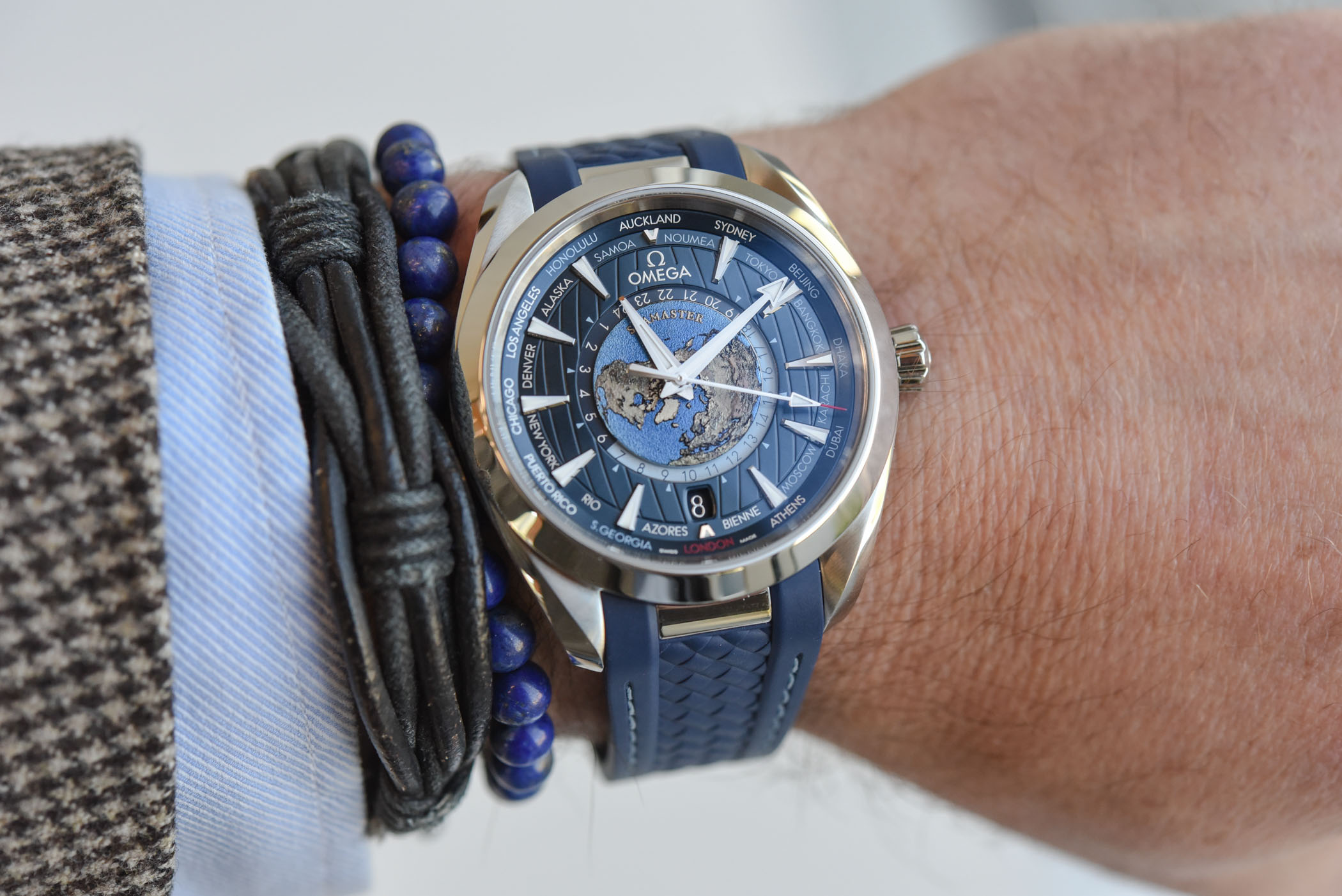 Hands On Omega Seamaster Aqua Terra Worldtimer Steel And