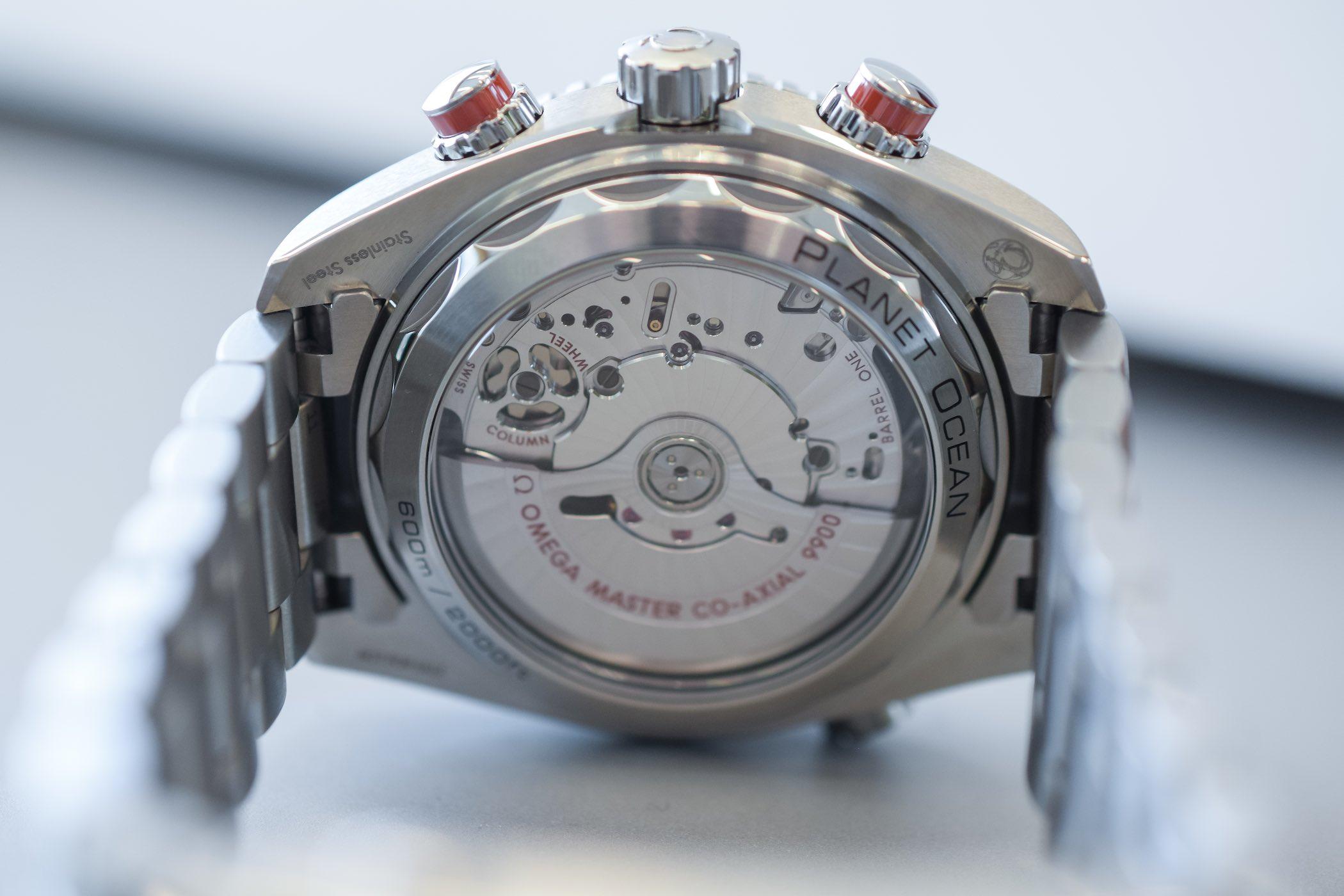 Omega Seamaster Planet Ocean 600m Chronograph Orange Ceramic Bezel and ceramised titanium dial - 215.30.46.51.99.001