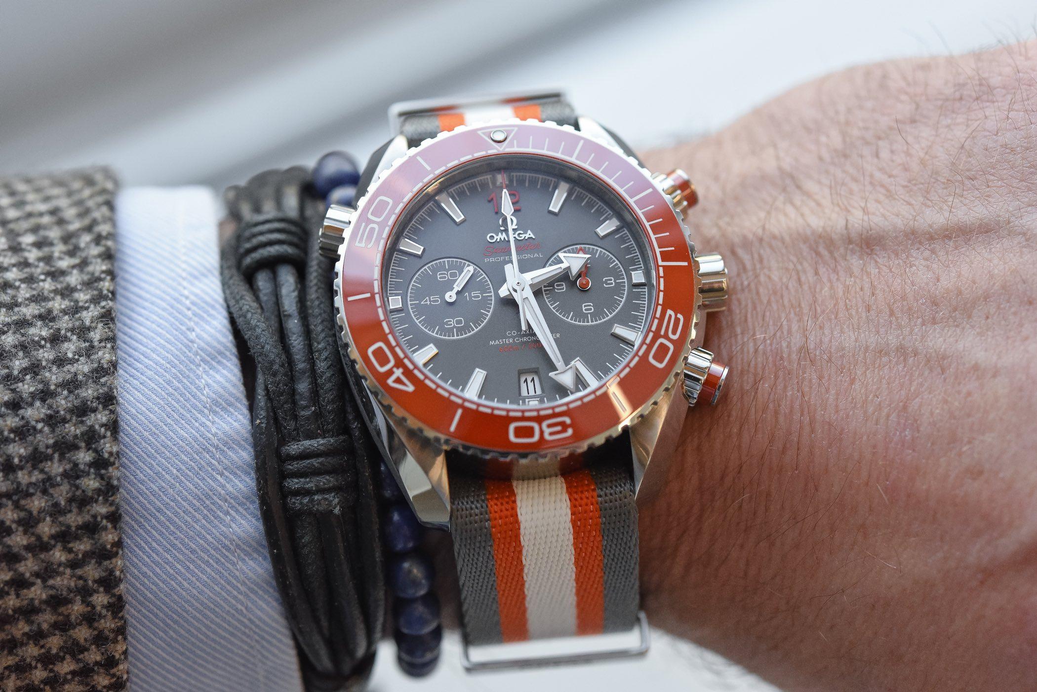 Omega Seamaster Planet Ocean 600m Chronograph Orange Ceramic Bezel and ceramised titanium dial - 215.32.46.51.99.001