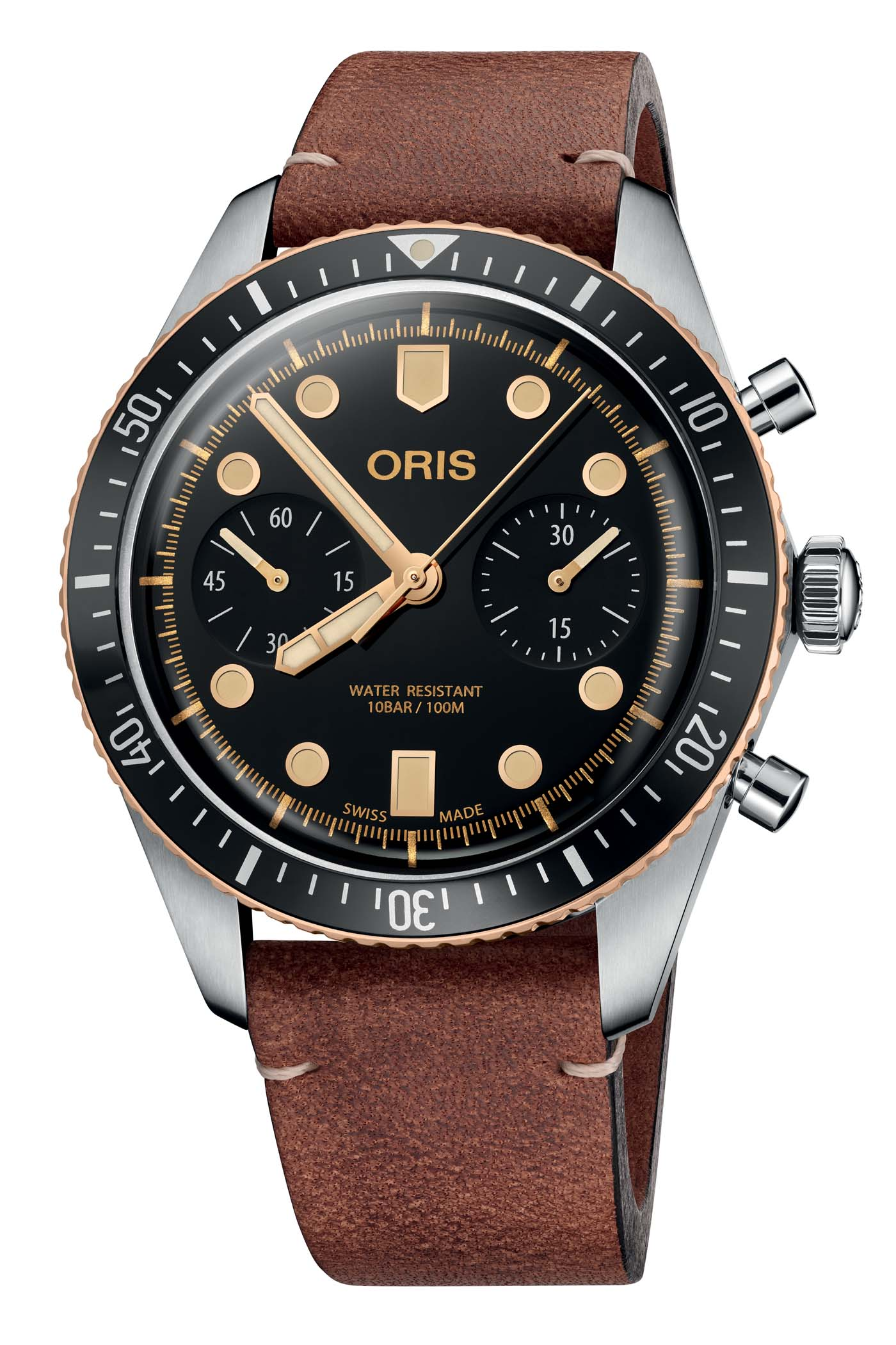 Oris Divers Sixty Five Chronograph Steel-and-Bronze - 1