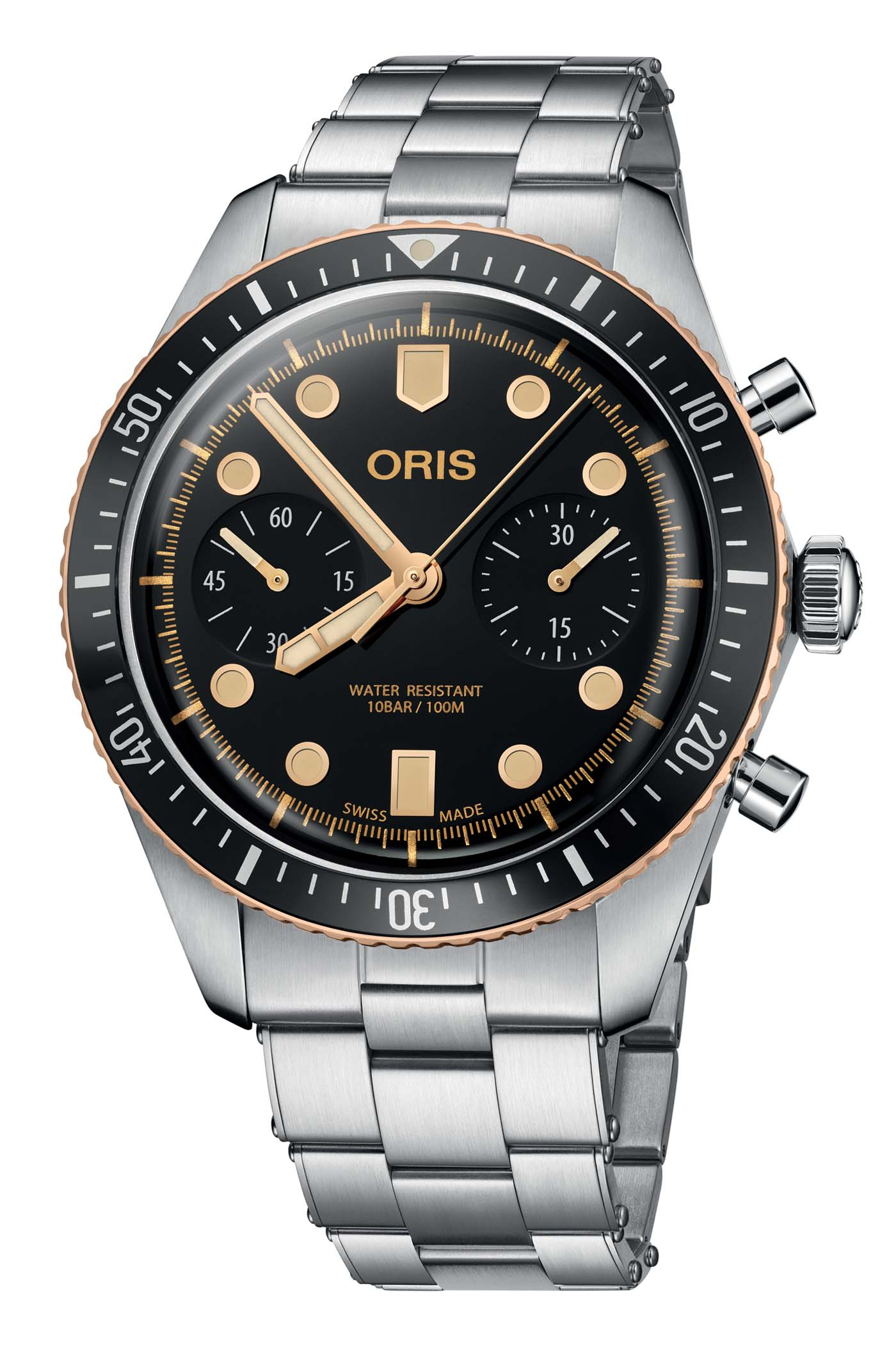 Oris Divers Sixty Five Chronograph Steel-and-Bronze - 2