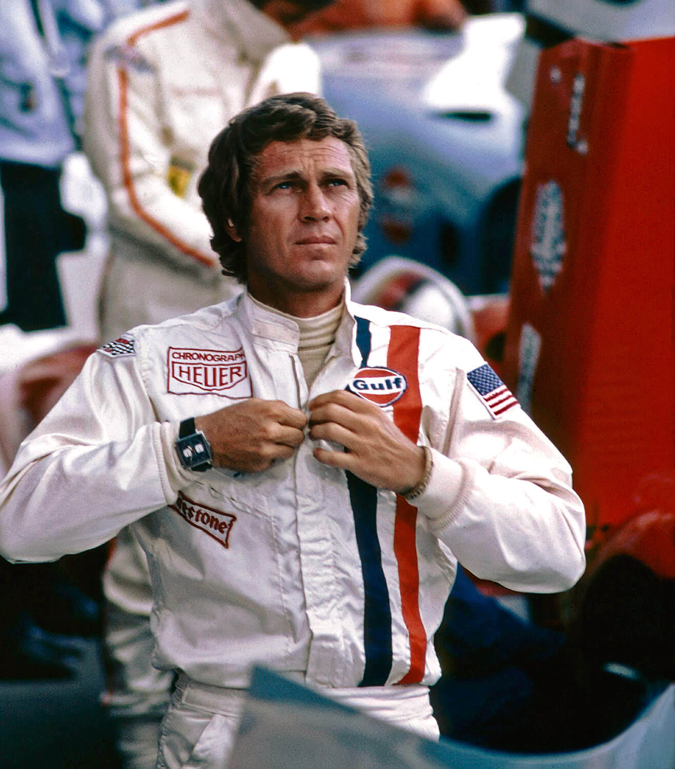 Steve McQueen wearing Heuer Monaco Le Mans movie 1971