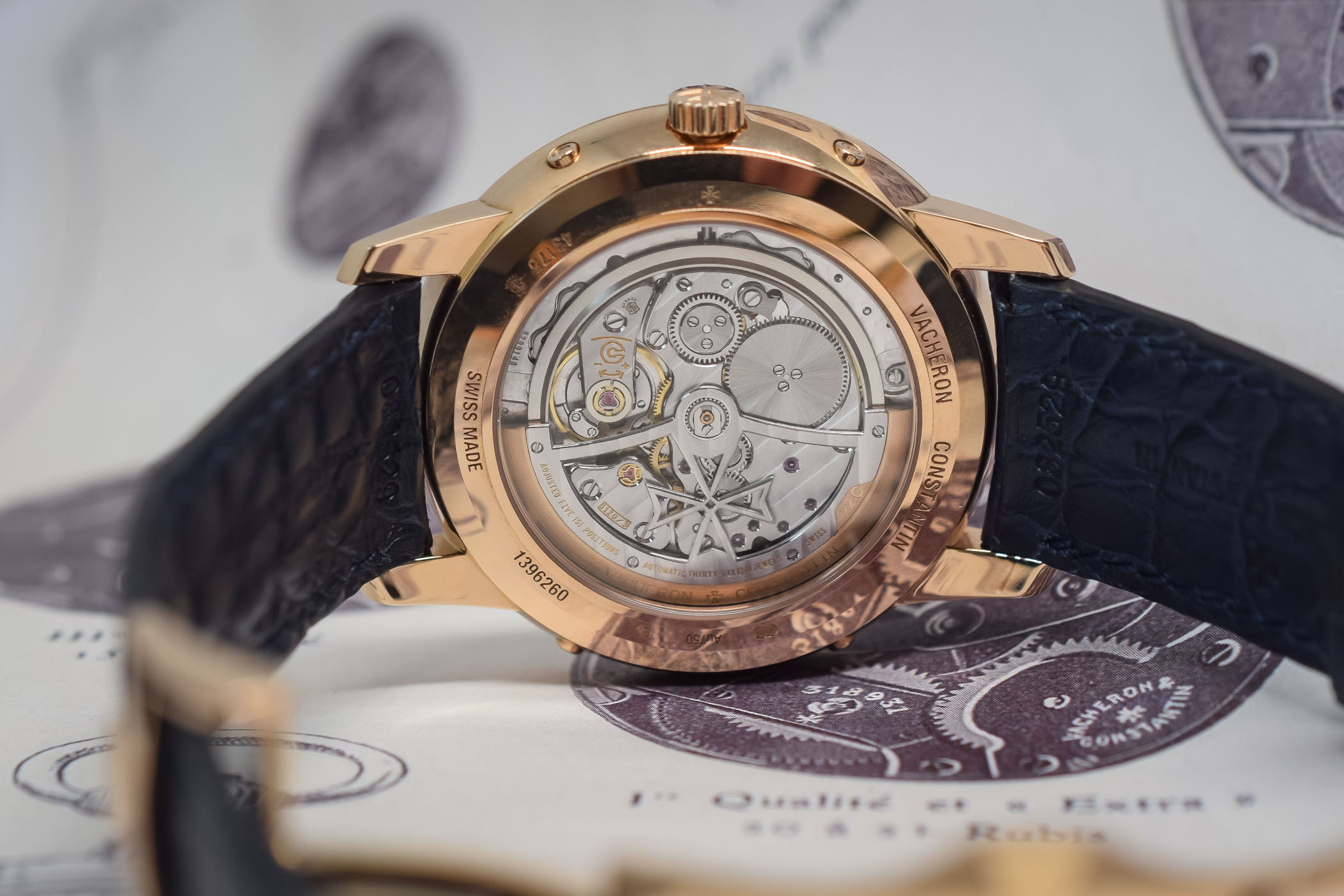 Vacheron Patrimony Perpetual Calendar Ultra-Thin Rose Gold Blue Dial