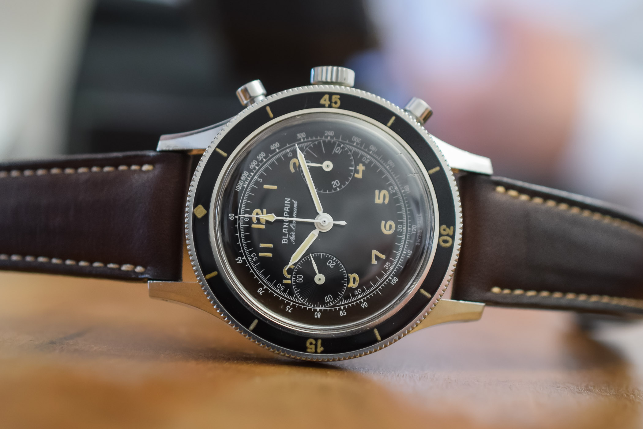 vintage Blancpain Air Command Pilots Chronograph