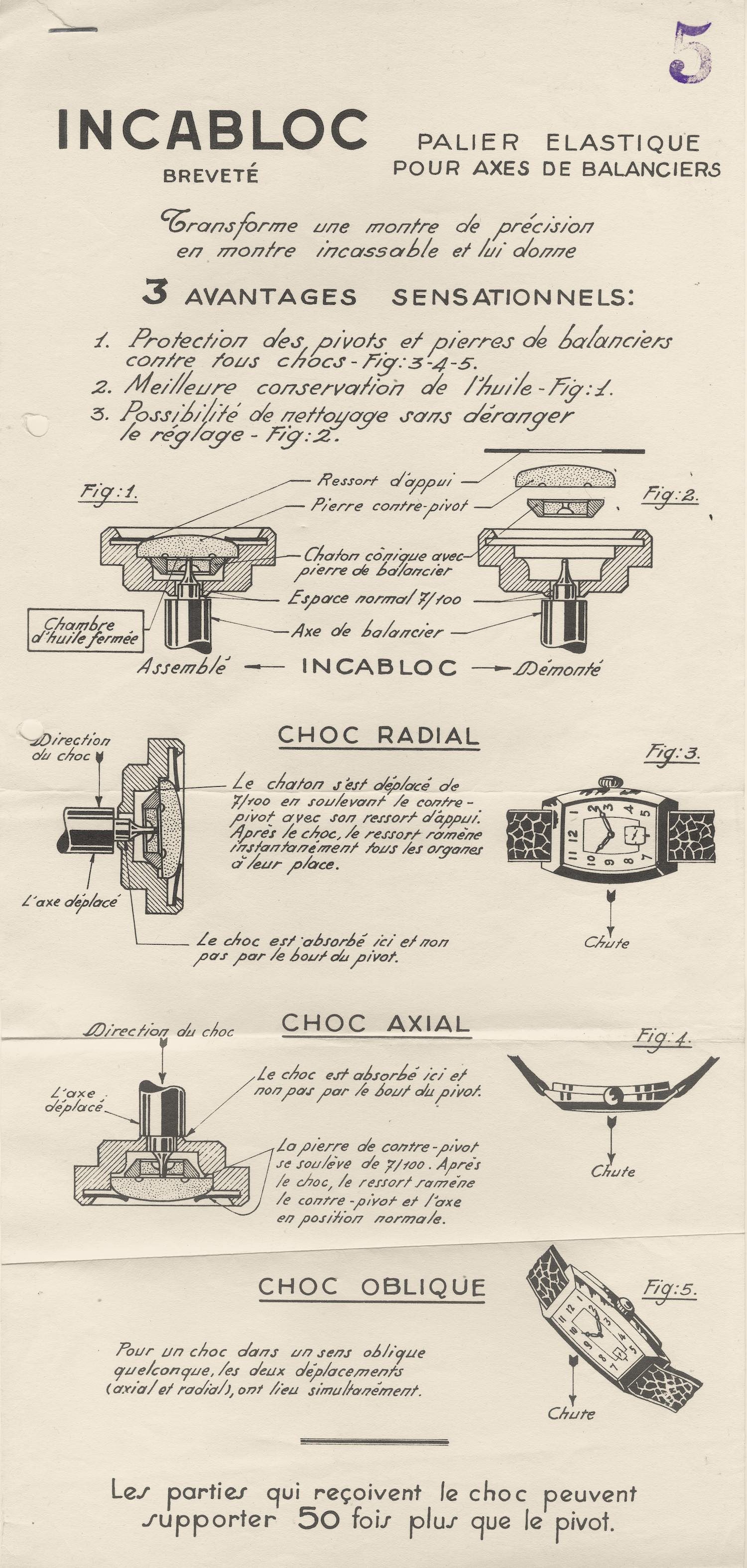 A Technical Perspective - Incabloc, historical supplier of shock absorber for the watch industry - 11