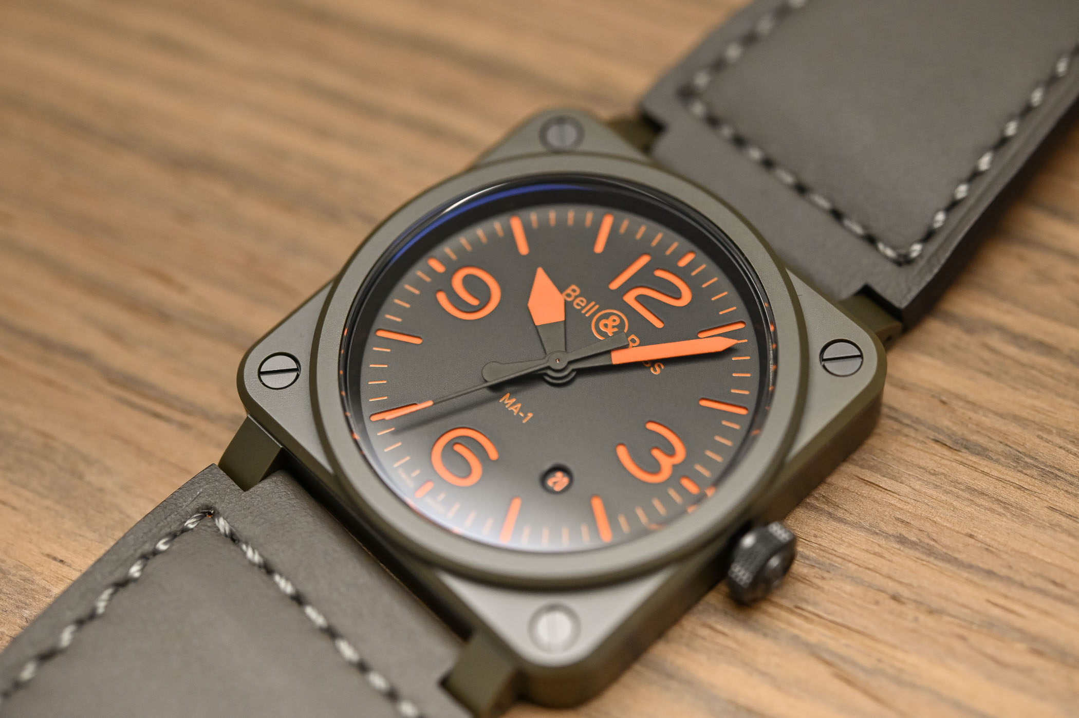 Bell & Ross BR 03-92 MA-1 Military Bomber jacket Pilot