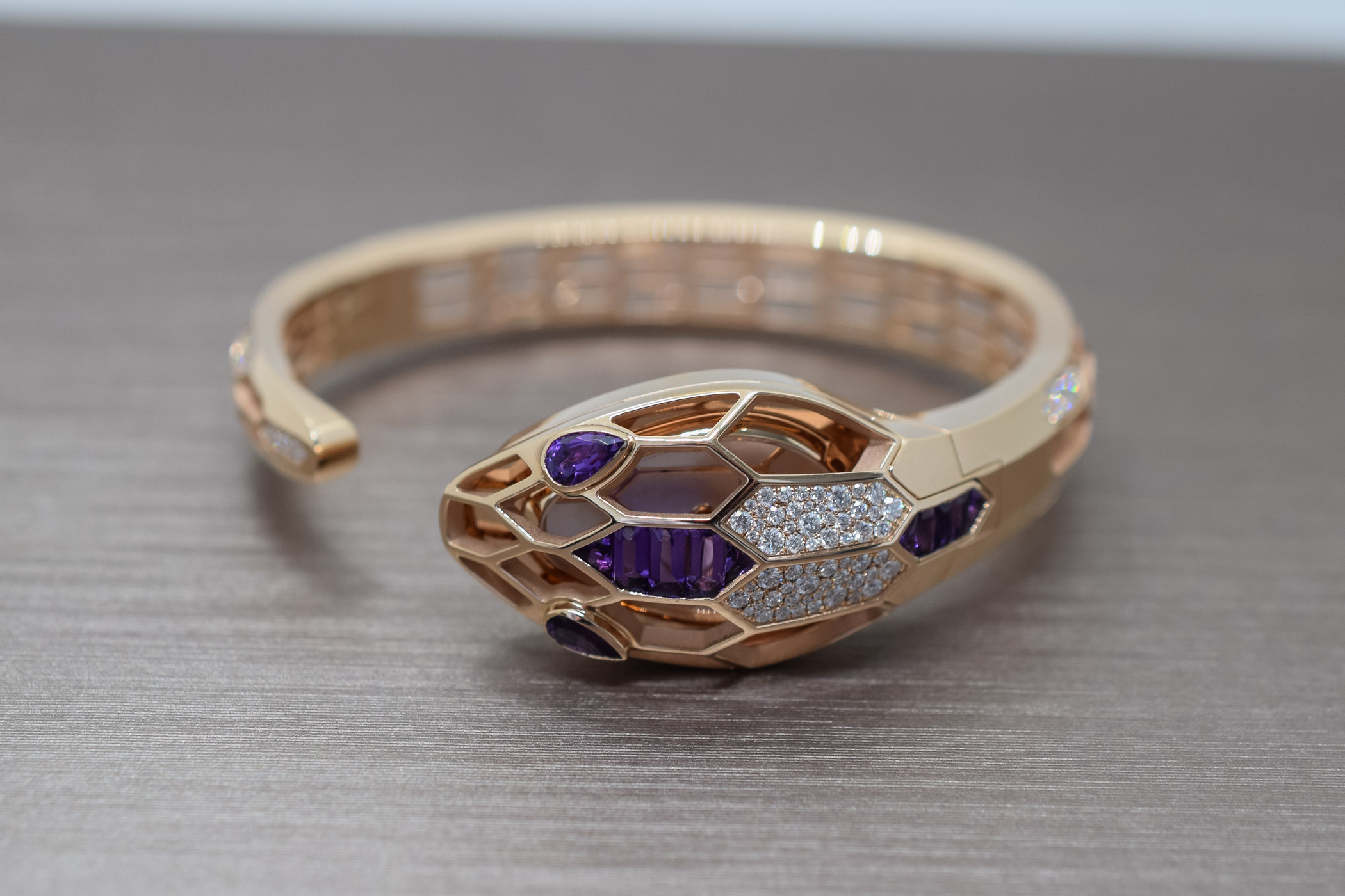 Bvlgari Amethyst capsule collection Serpenti Misteriosi Bangle
