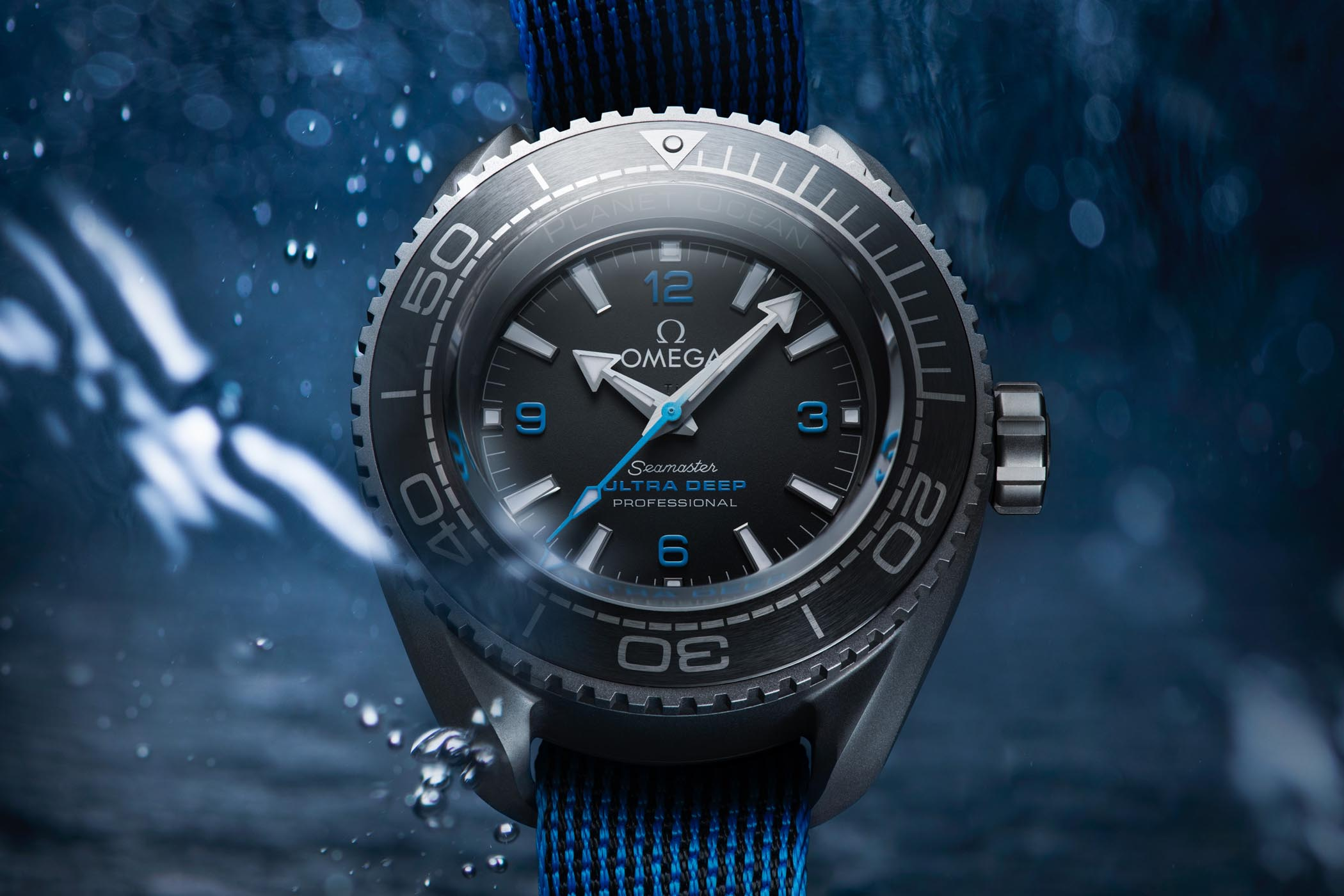 Omega Seamaster Planet Ocean Ultra Deep Professional - world record dive watch 15000m