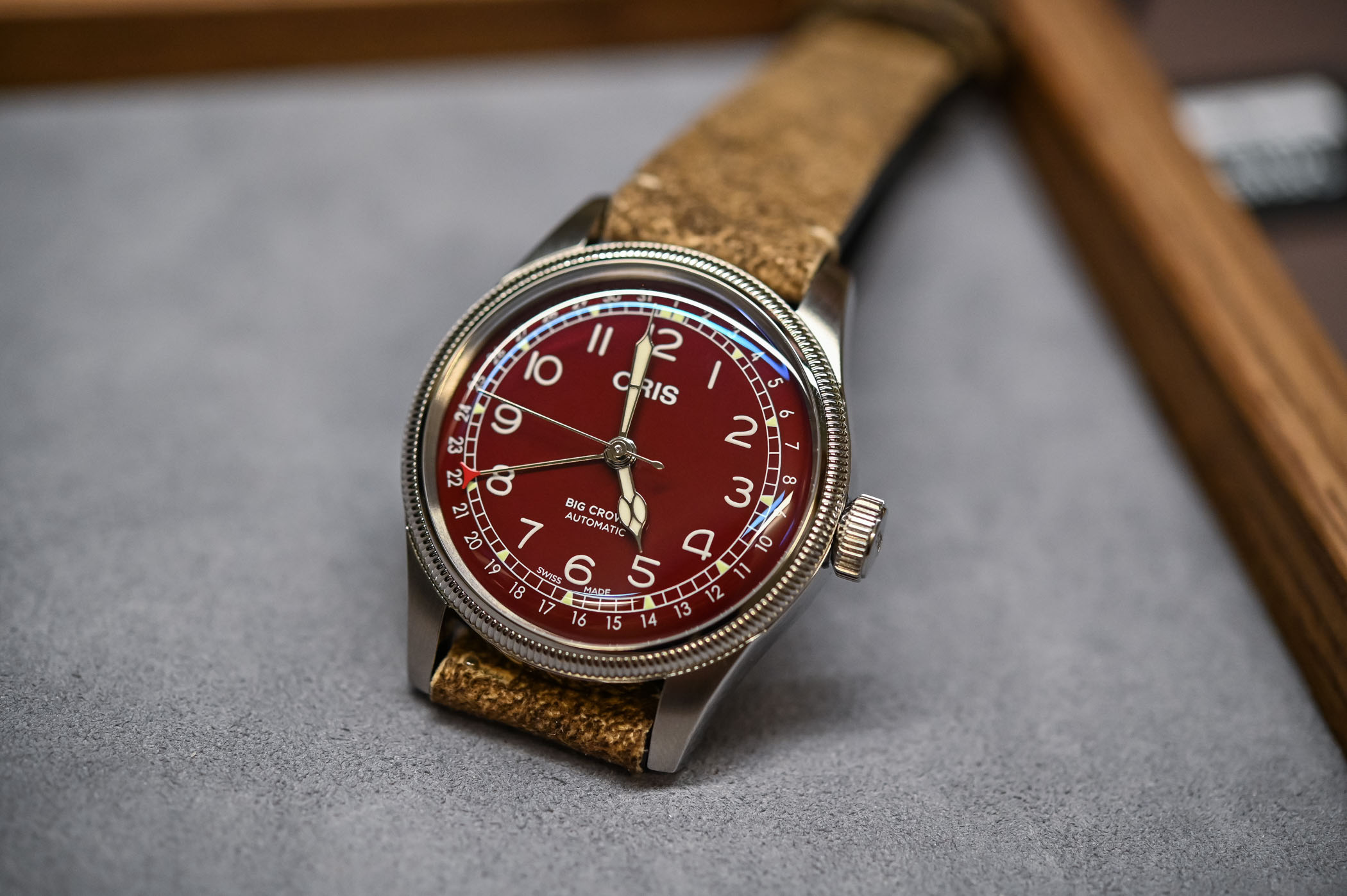 Oris Big Crown Pointer Date 40mm Oxblood Red Dial