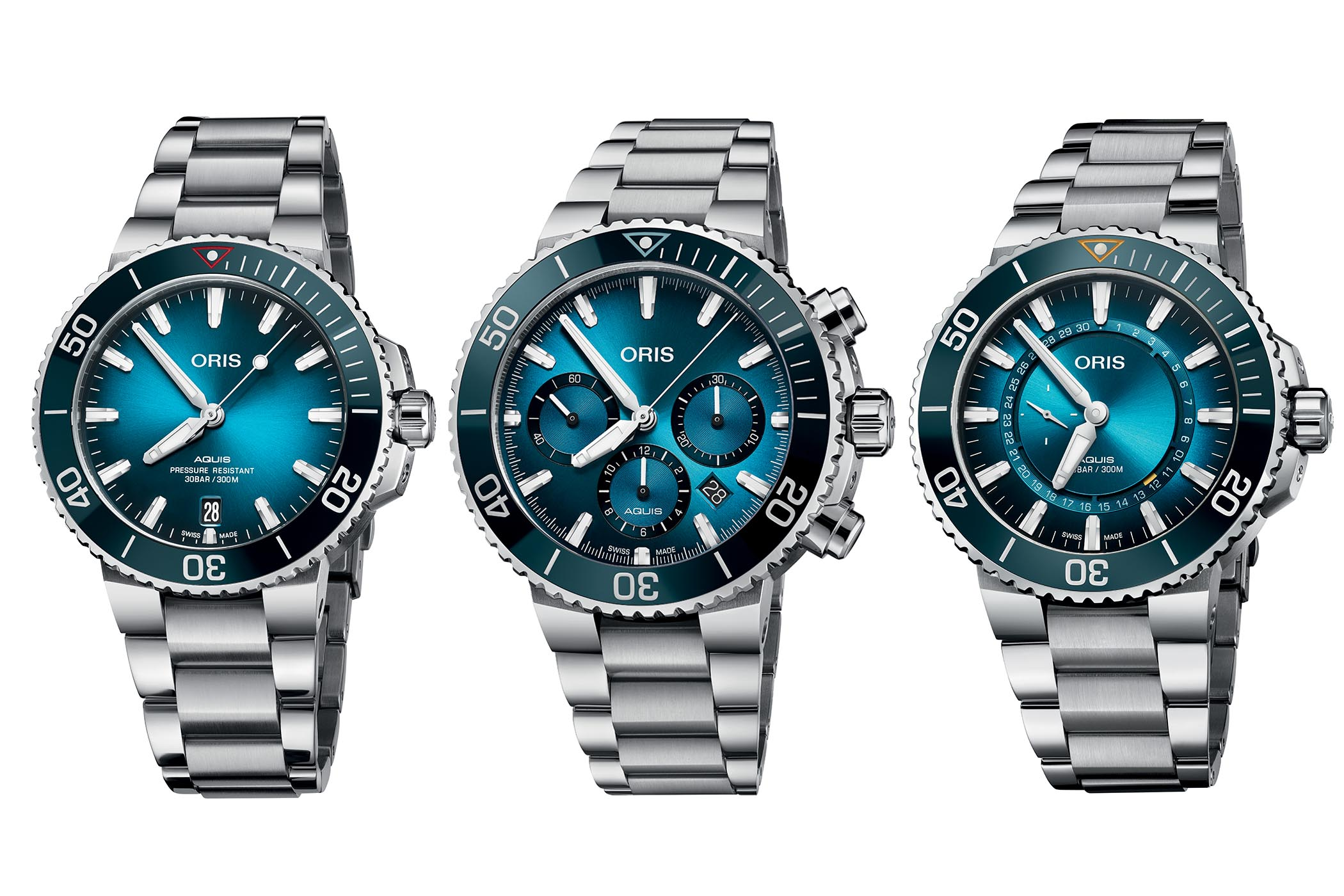 Oris Ocean Trilogy - Oris Great Barrier Reef Limited Edition III - Oris Clean Ocean Limited Edition - Oris Blue Whale Limited Edition