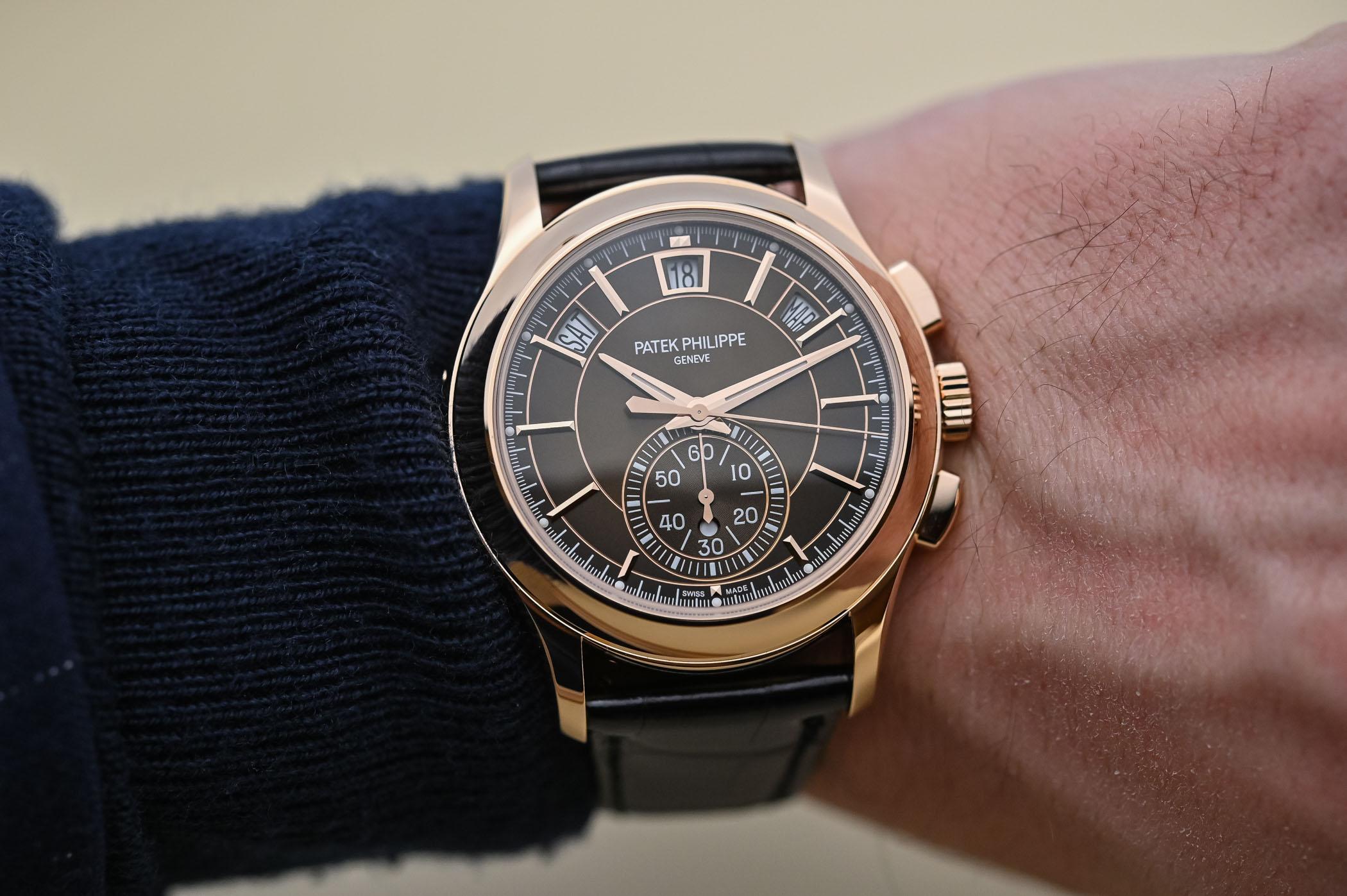 Patek Philippe Chronograph Annual Calendar 5905R-001 Pink Gold Brown Dial