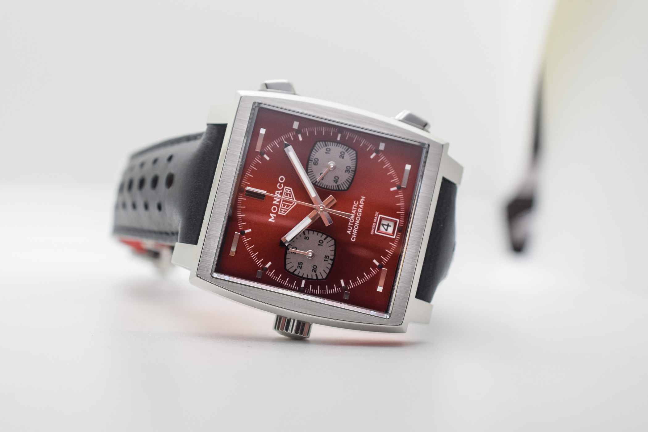 Red Dial Buying Guide - TAG-Heuer-Monaco-1979-1989-Limited-Edition-50th-anniversary-Red-Dial-CAW211W.FC6467-6