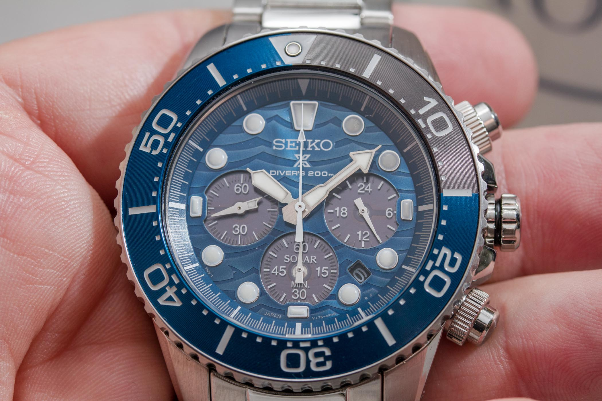 Seiko Save The Ocean Special Edition 2019 Solar Chrono SSC741P1