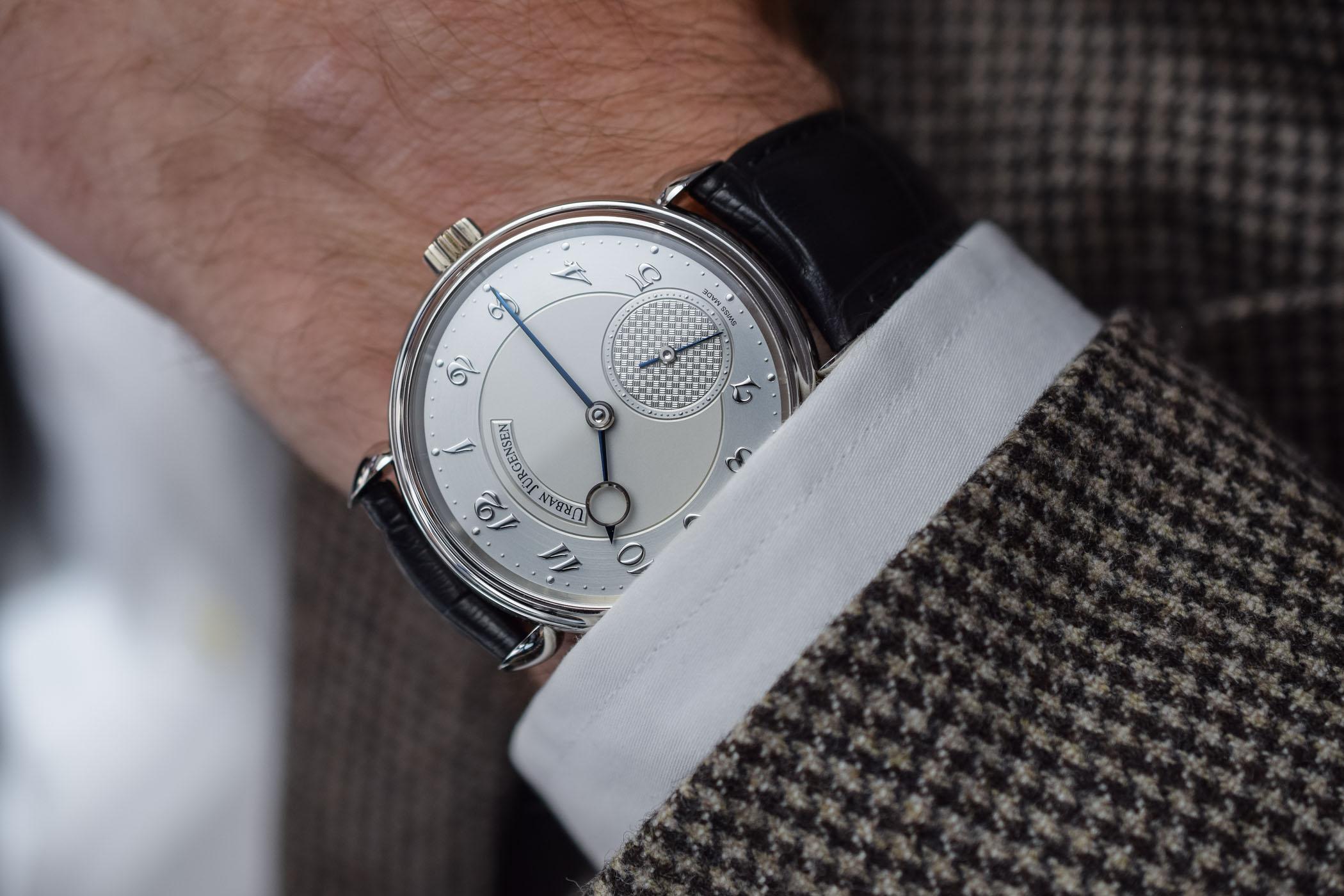 Urban Jurgensen 1140L Platinum wrist