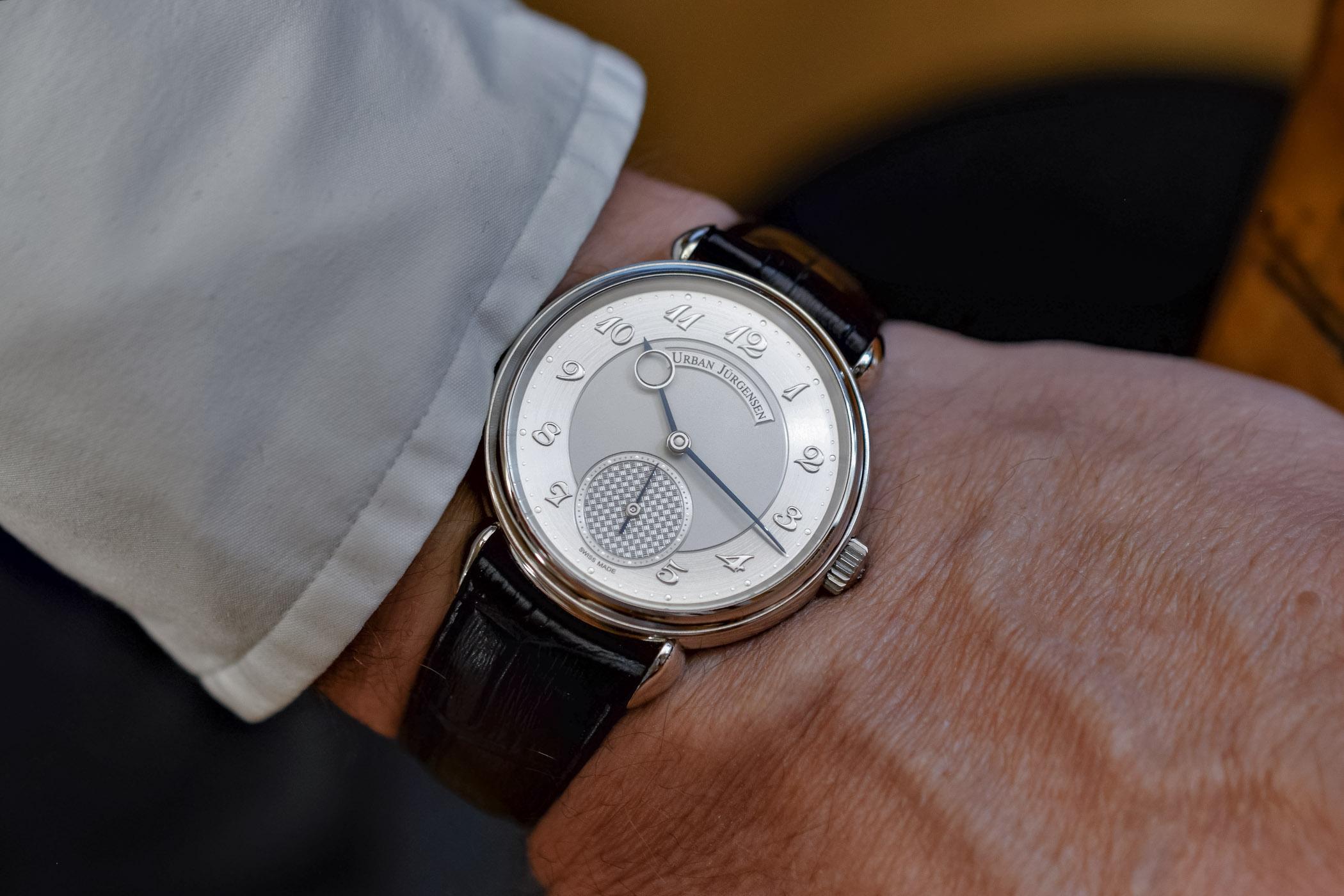 Urban Jurgensen 1140L Platinum wristshot