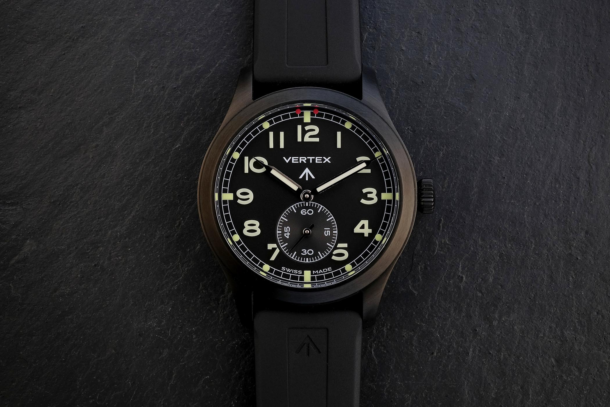 Vertex M100B black DLC Dirty Dozen Military British Watch