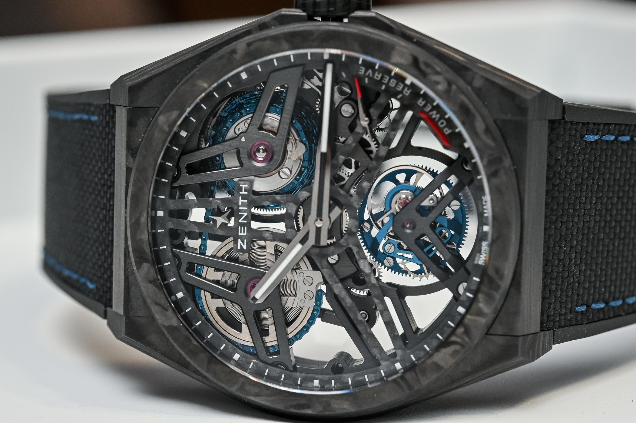Zenith Defy Fusee Tourbillon movement detail
