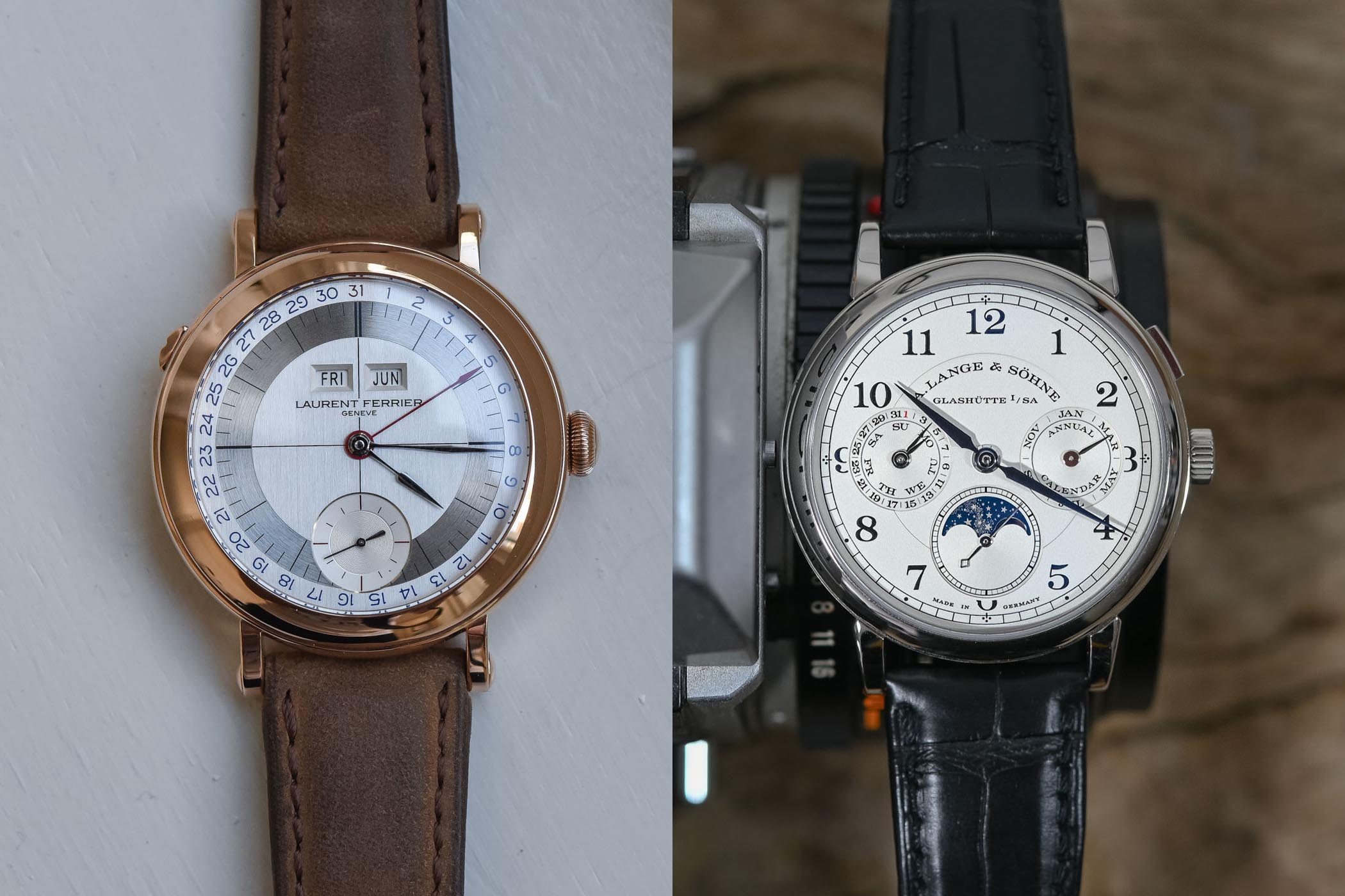 Battle High-end Annual Calendar - Lange 1815 Annual Calendar vs Laurent Ferrier Annual Calendar review