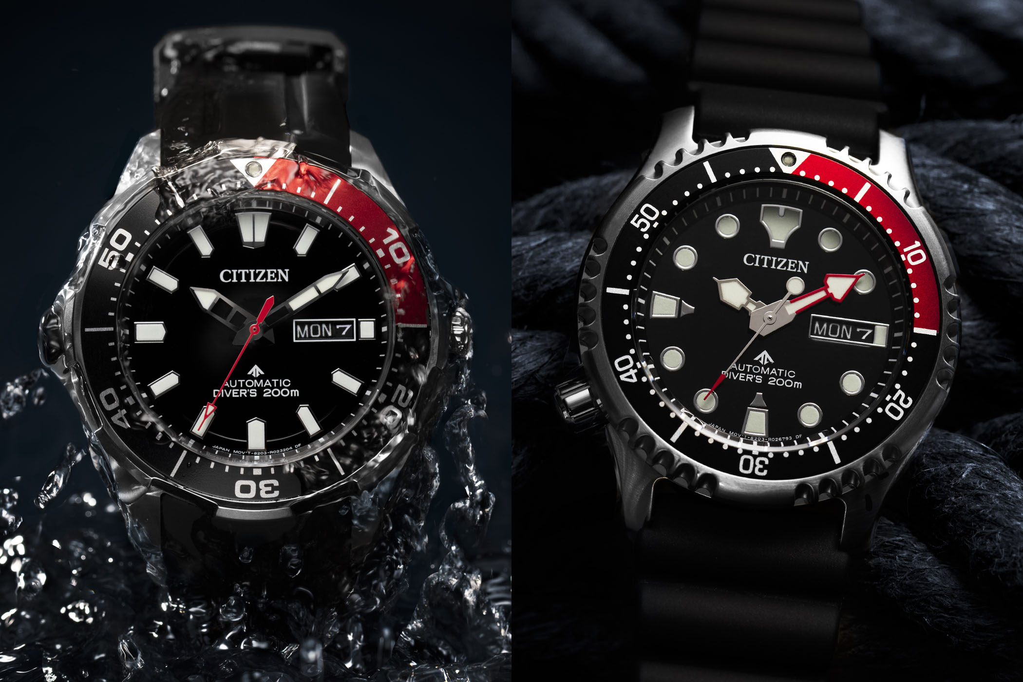 Citizen Promaster Marine Super Titanium NY0076-10EE Promaster Mechanical Diver NY0087-13EE Europe 50 years edition