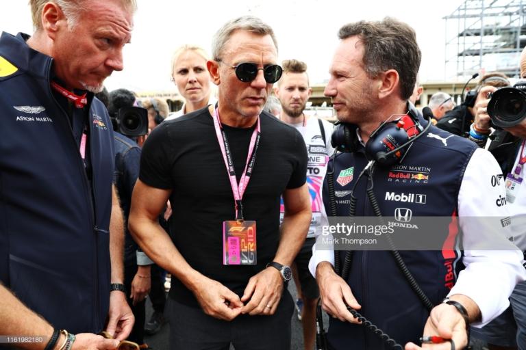 "Spotted – Daniel Craig at 2019 British GP With Omega Seamaster Bullhead (and a peek at ""Bond 25"" possible watch)"