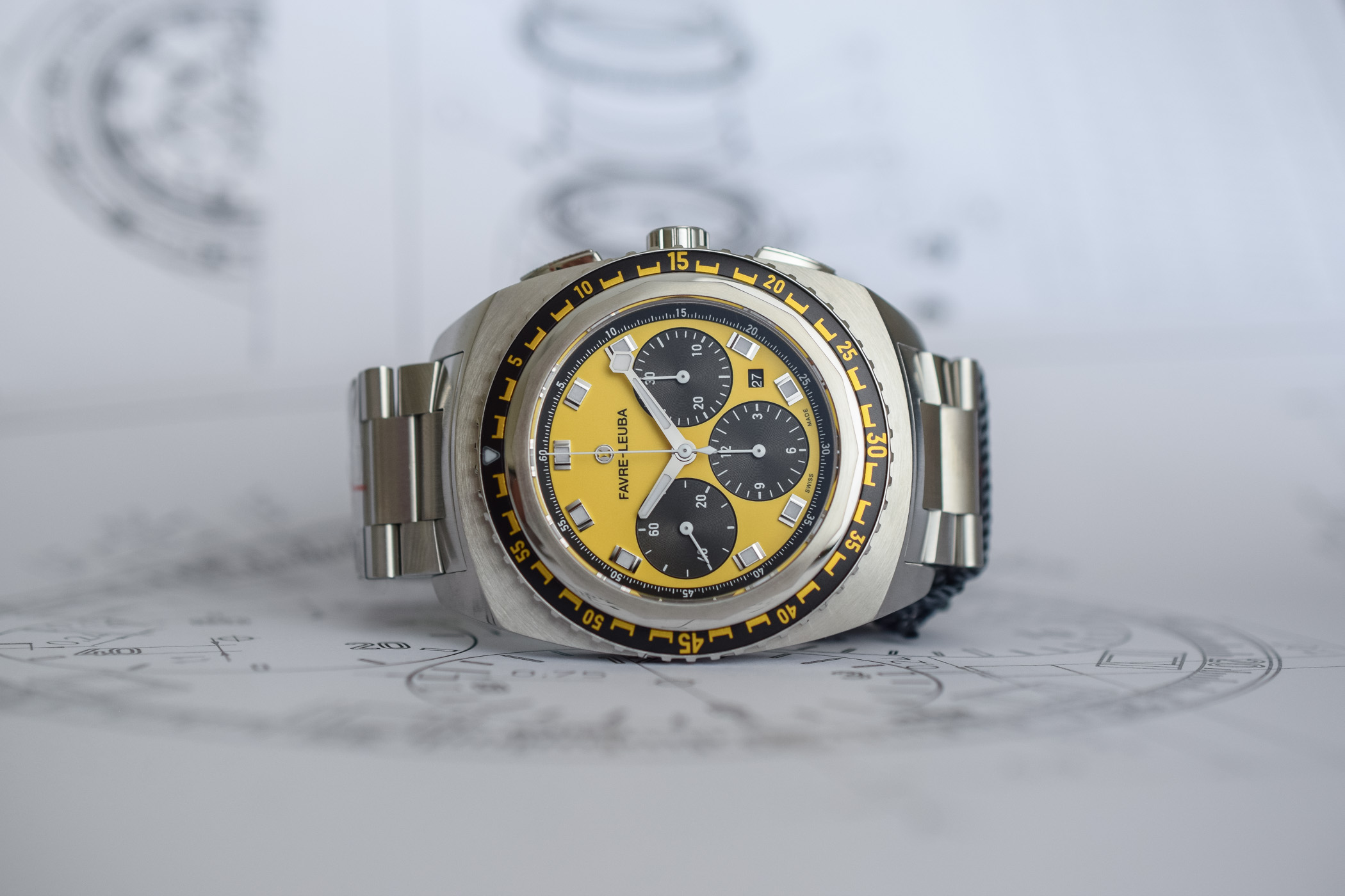 Favre-Leuba Raider Sea Sky Chronograph Bright Orange and Yellow