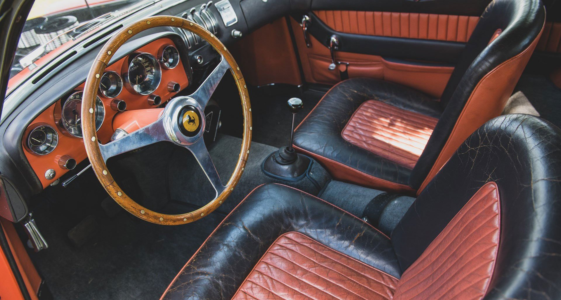 Ferrari 335 MM Ghia two-tone salmon grey - RM Sothebys Monterey 2019 - 2