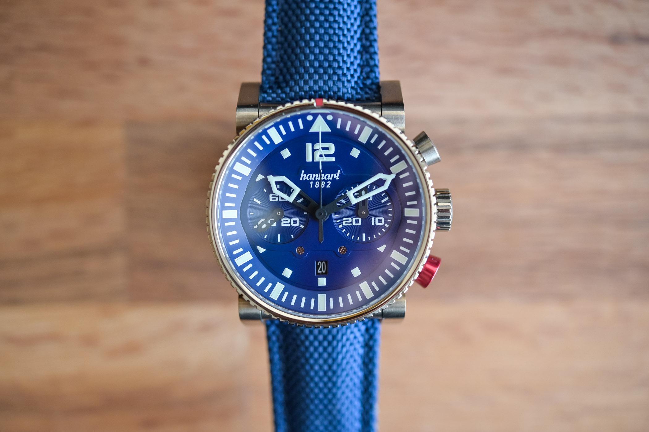 Hanhart Primus Nautic Pilot Bronze Chronograph