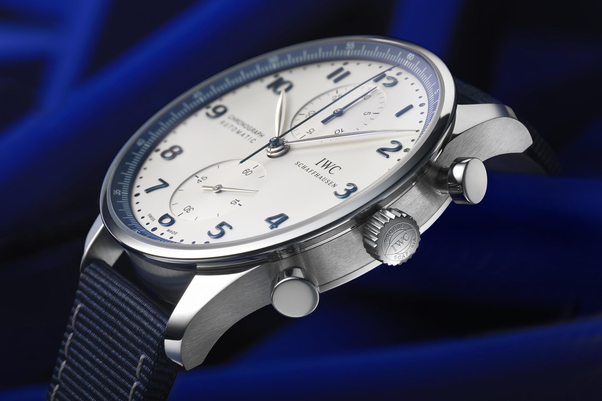 IWC Portugieser Chronograph Bucherer Blue Editions IW3714