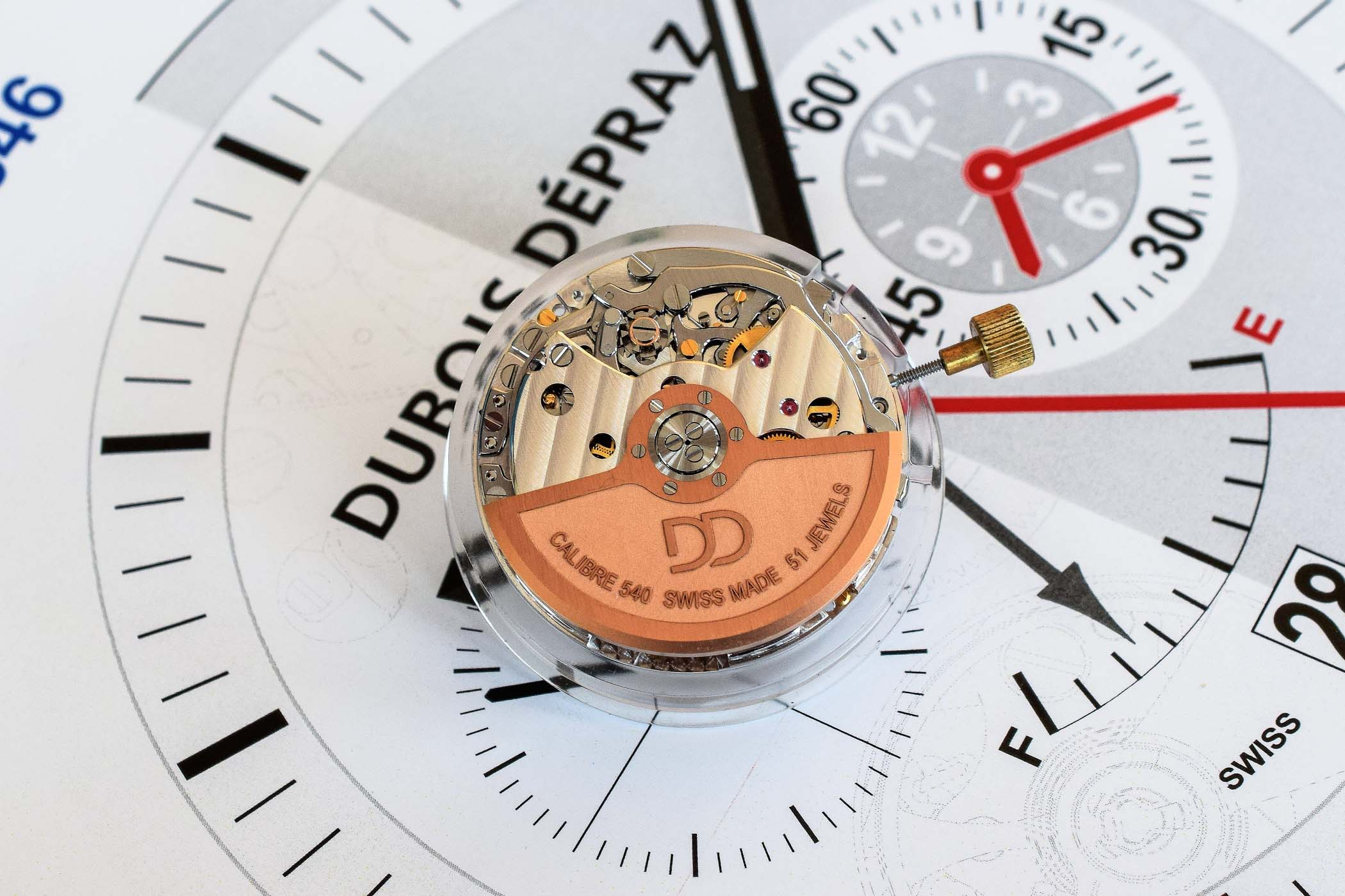 Inside Dubois-Depraz, Module Specialist - new integrated chronograph calibre 540