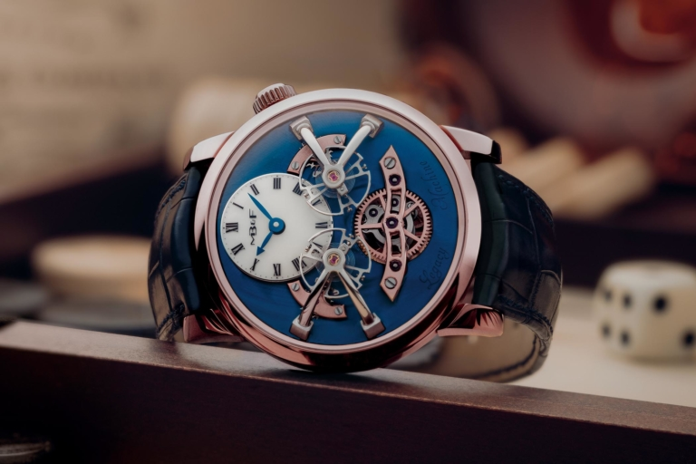 Introducing – The MB&F LM2 Now in Red Gold with Blue Dial