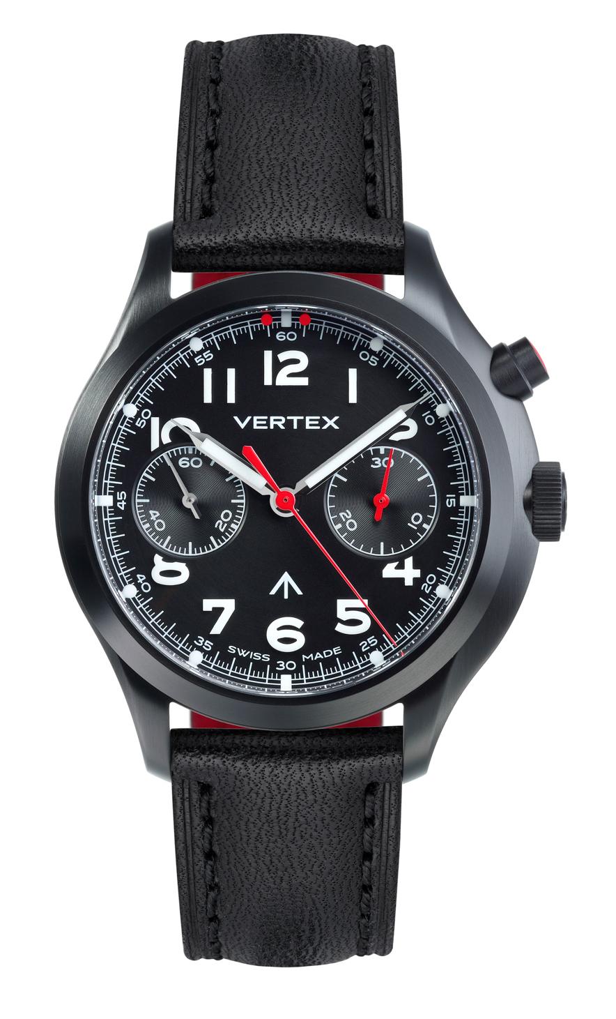 Vertex MP45B Monopusher Chronograph DLC Black