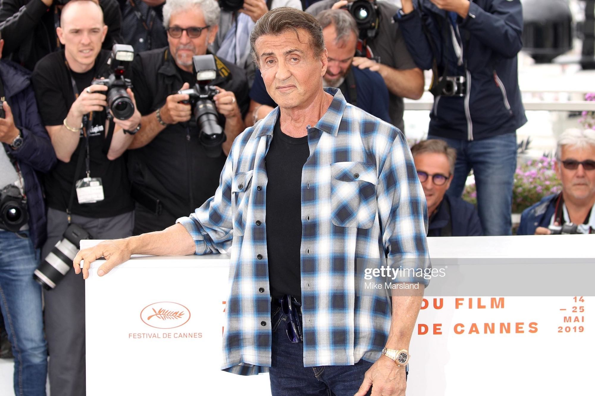 Spotted – Recent Watch Sightings on Sylvester Stallone (Incl. a Salmon 5270P and CFB Watches)