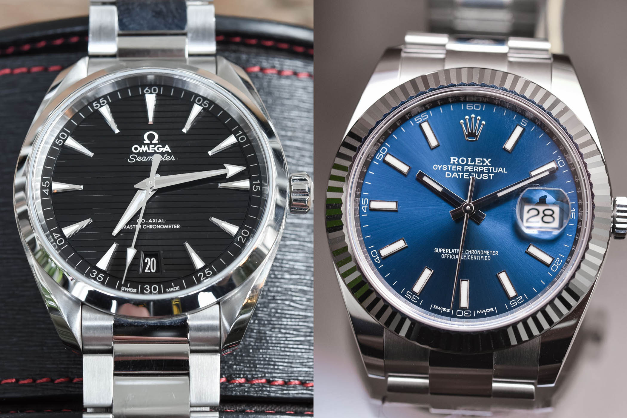 Battle of Luxury Daily Beaters - Omega Seamaster Aqua Terra 41mm vs Rolex Datejust 41