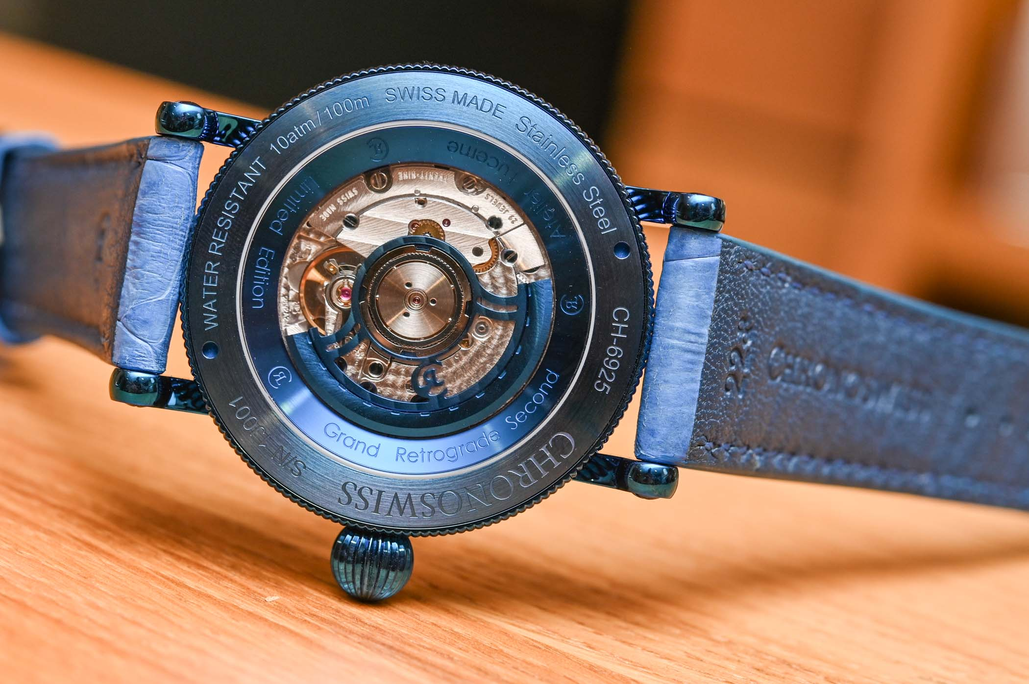 Chronoswiss Regulator Open Gear Resec Electric Blue