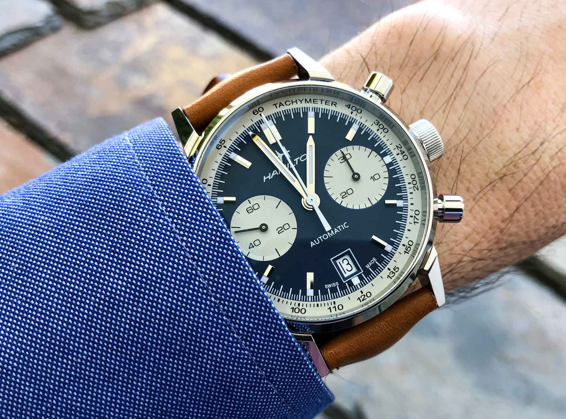 Hamilton Intra Matic Automatic Chronograph Tapping Into The Retro Vibe Monochrome Watches
