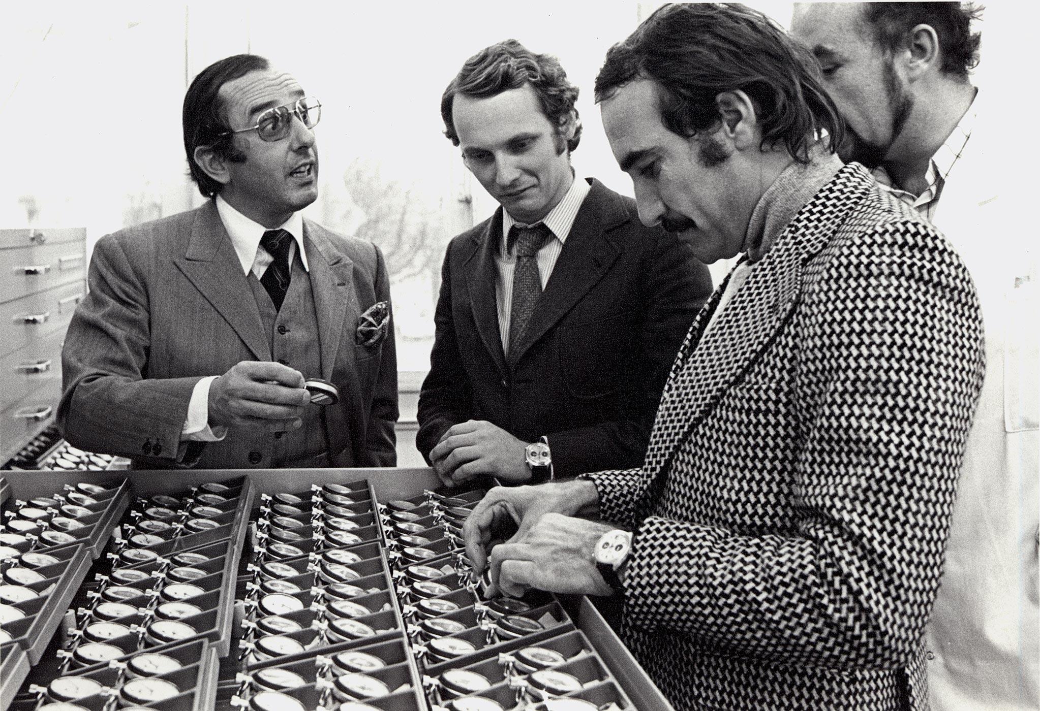 Jack Heuer + Niki Lauda + Clay Regazzoni (2)
